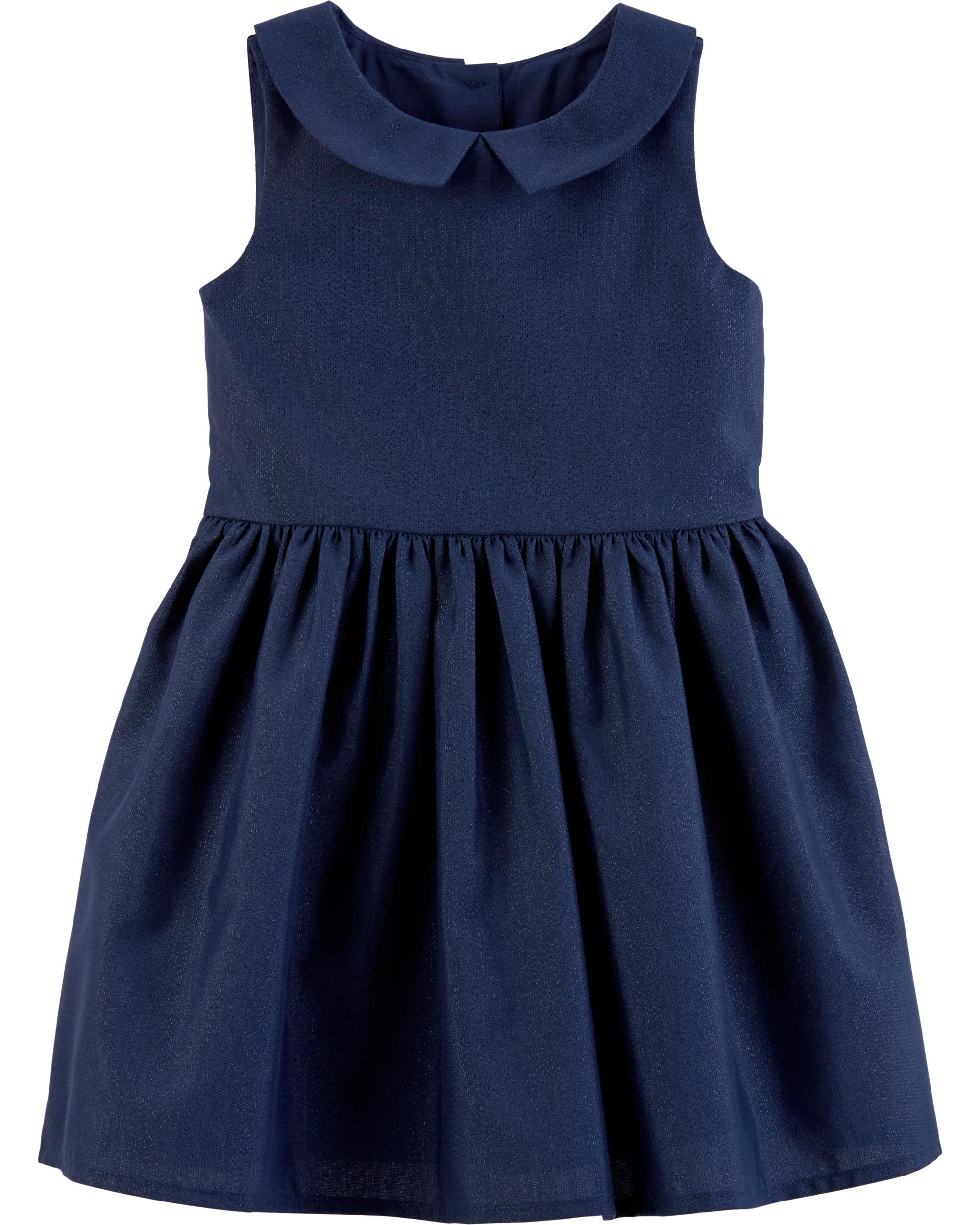 שמלת אריג כחולה