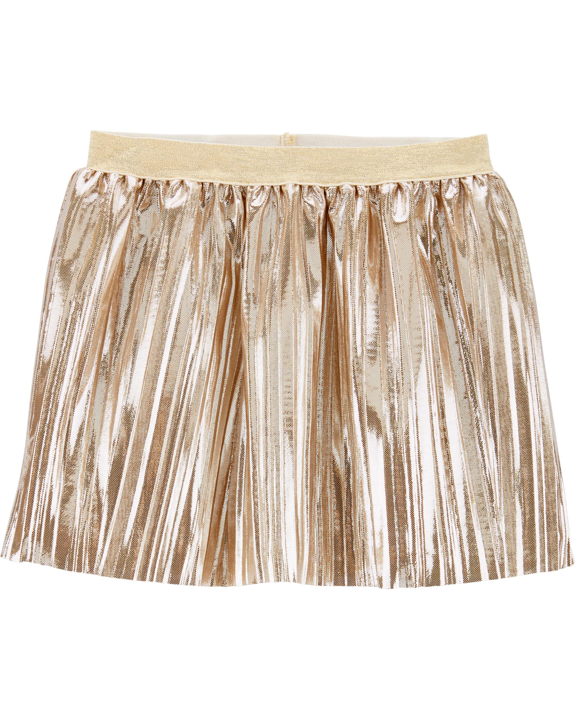 חצאית פליסה זהב