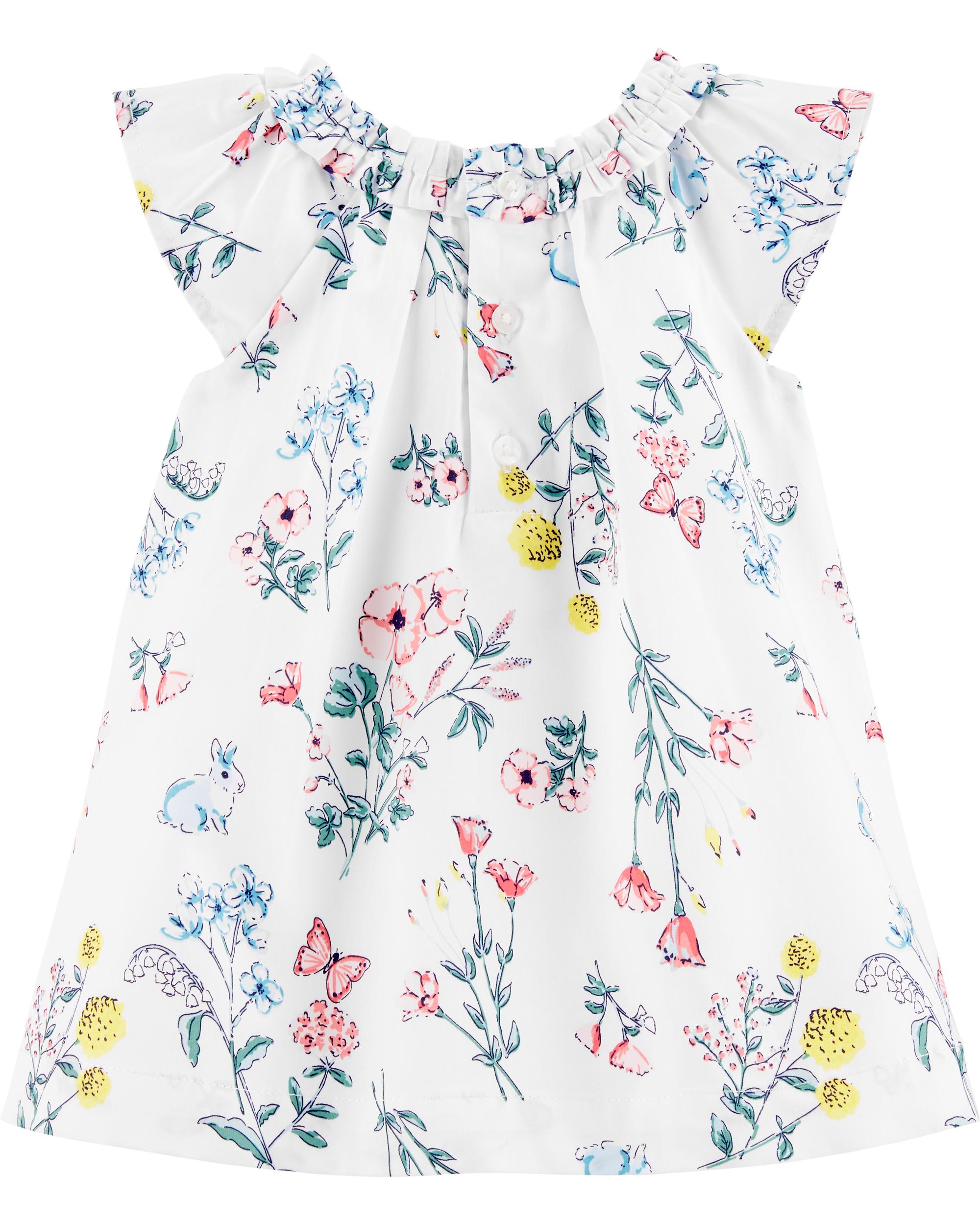 שמלת אריג פרחים