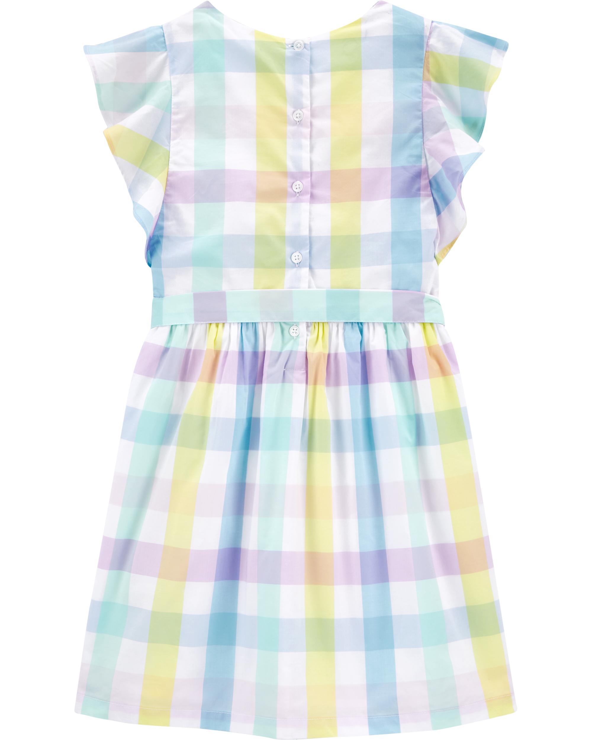 שמלת משבצות צבעוניות