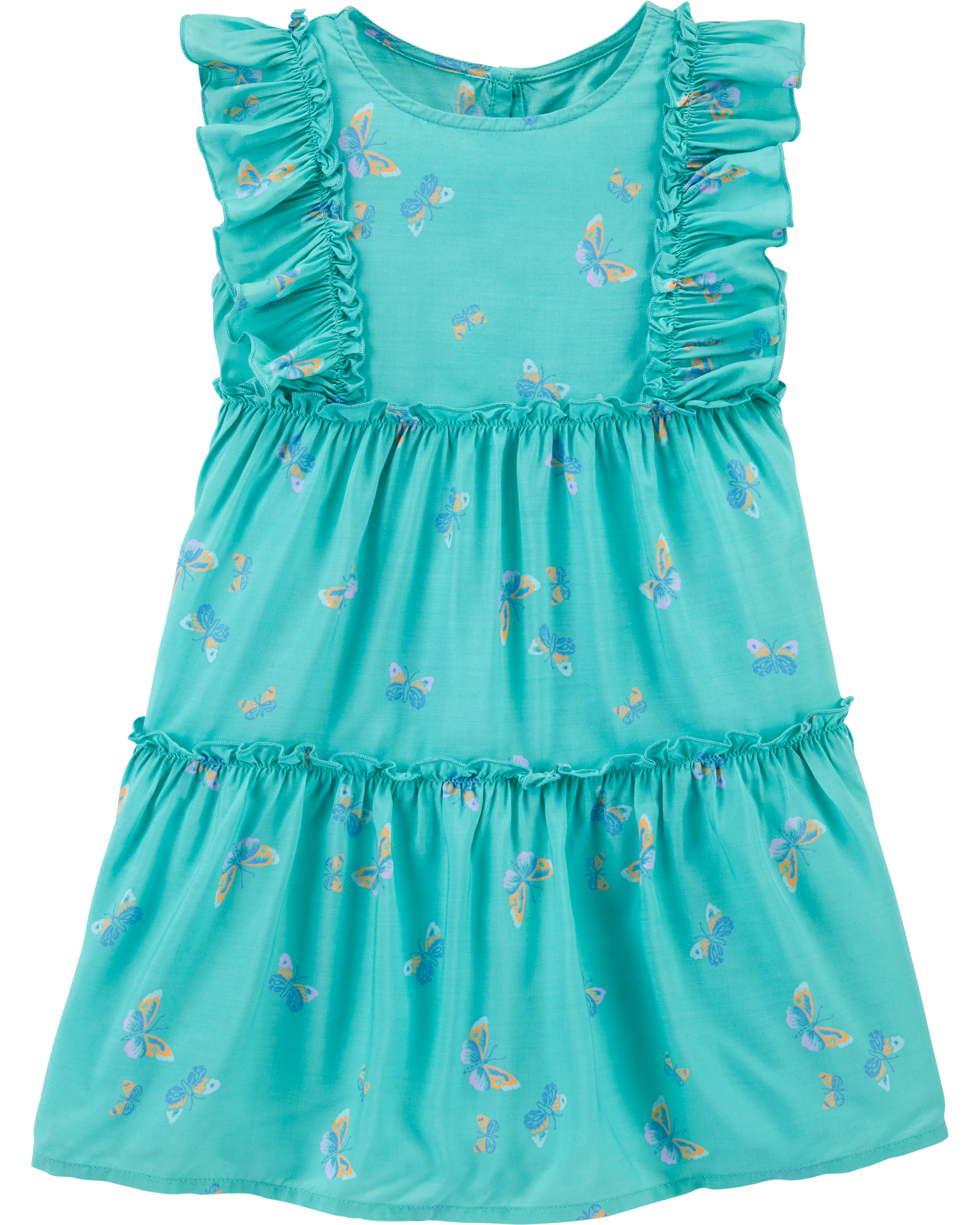 שמלת פרחים ירוקה