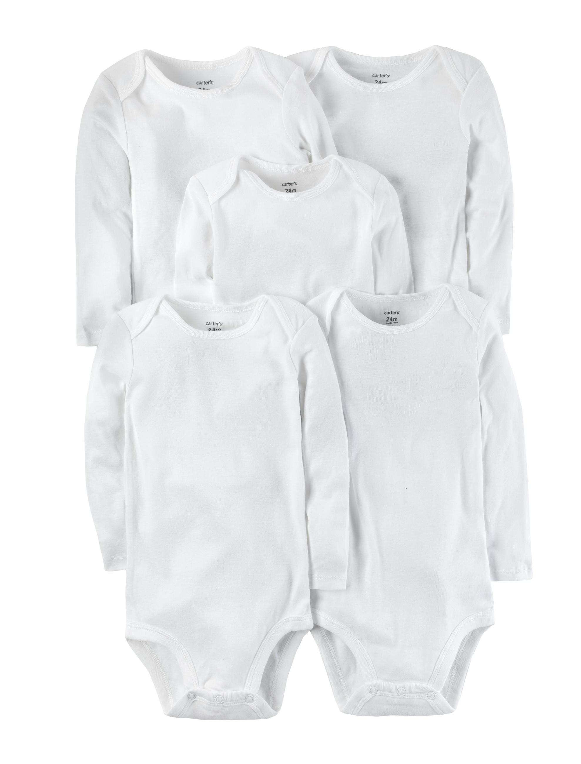 חמישיית בגדי גוף לבן ארוך