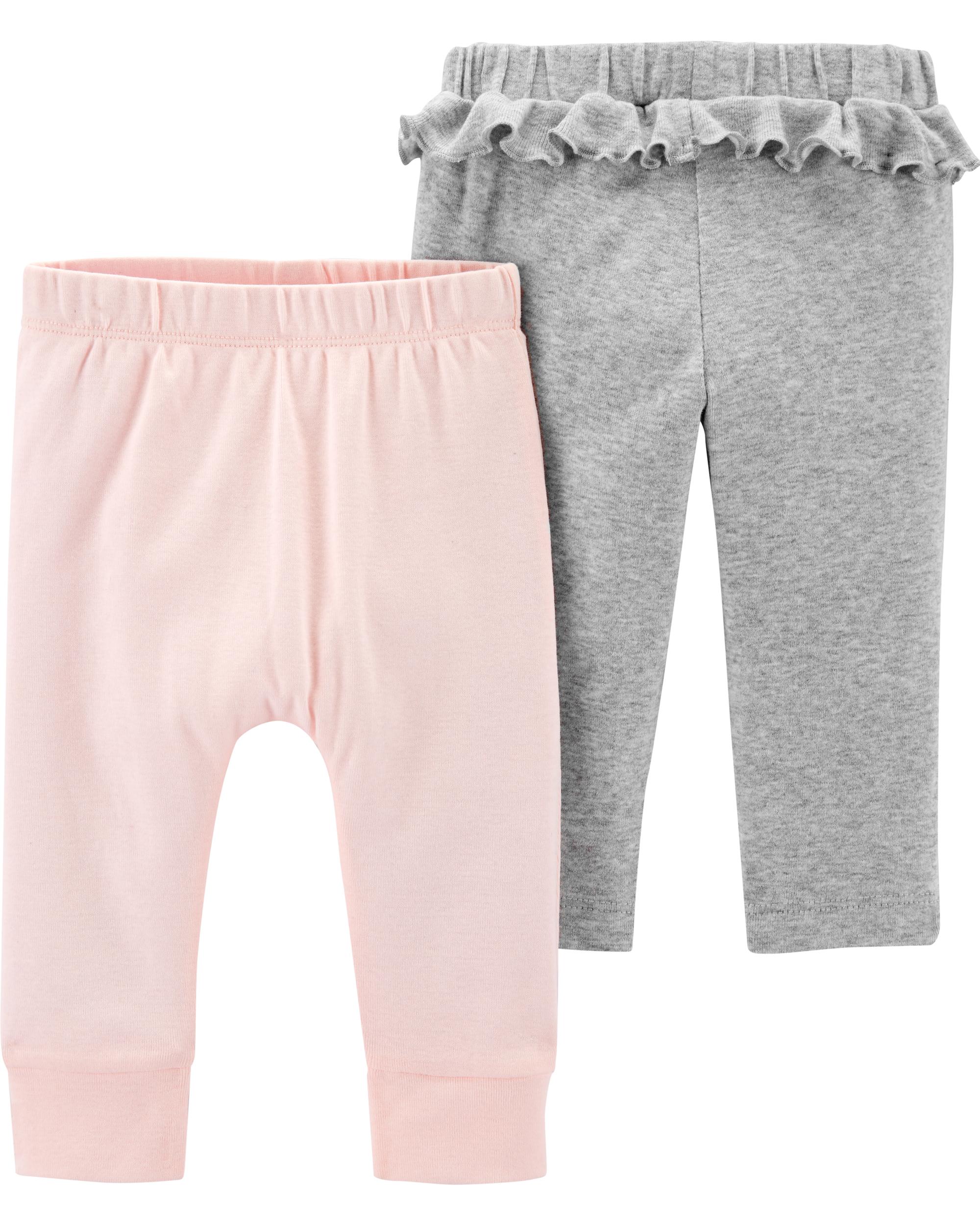 זוג מכנסיים ורוד בהיר/אפור