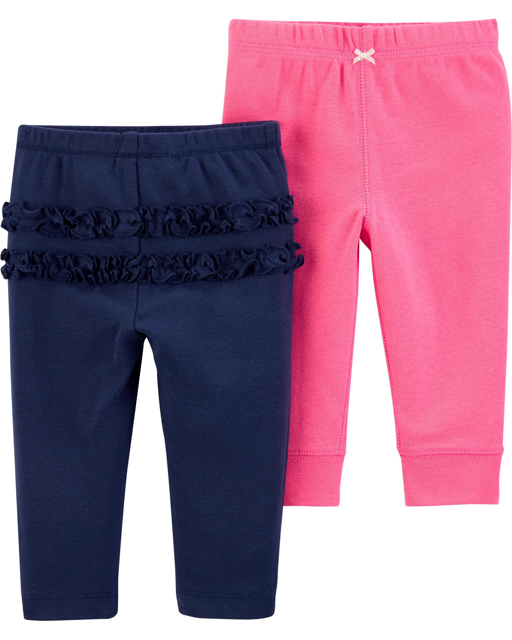 זוג מכנסיים ורוד/נייבי