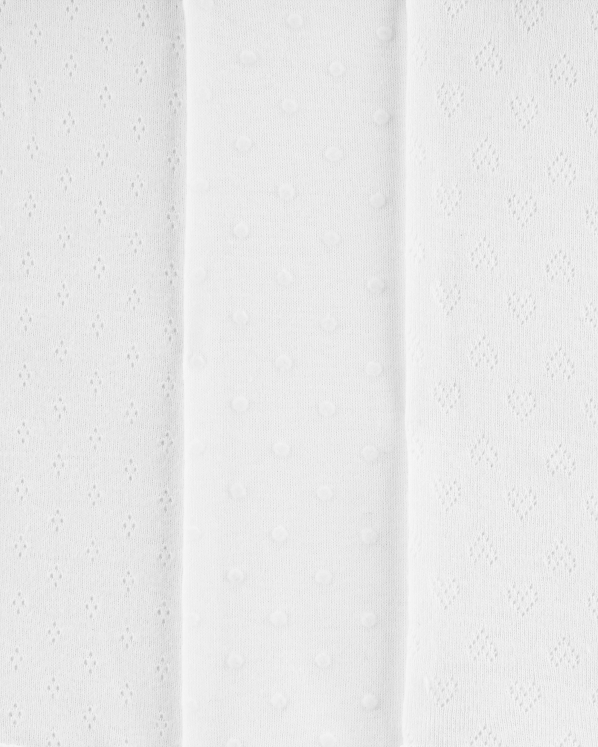 מארז שלישיית בגדי גוף פוינטל לבן