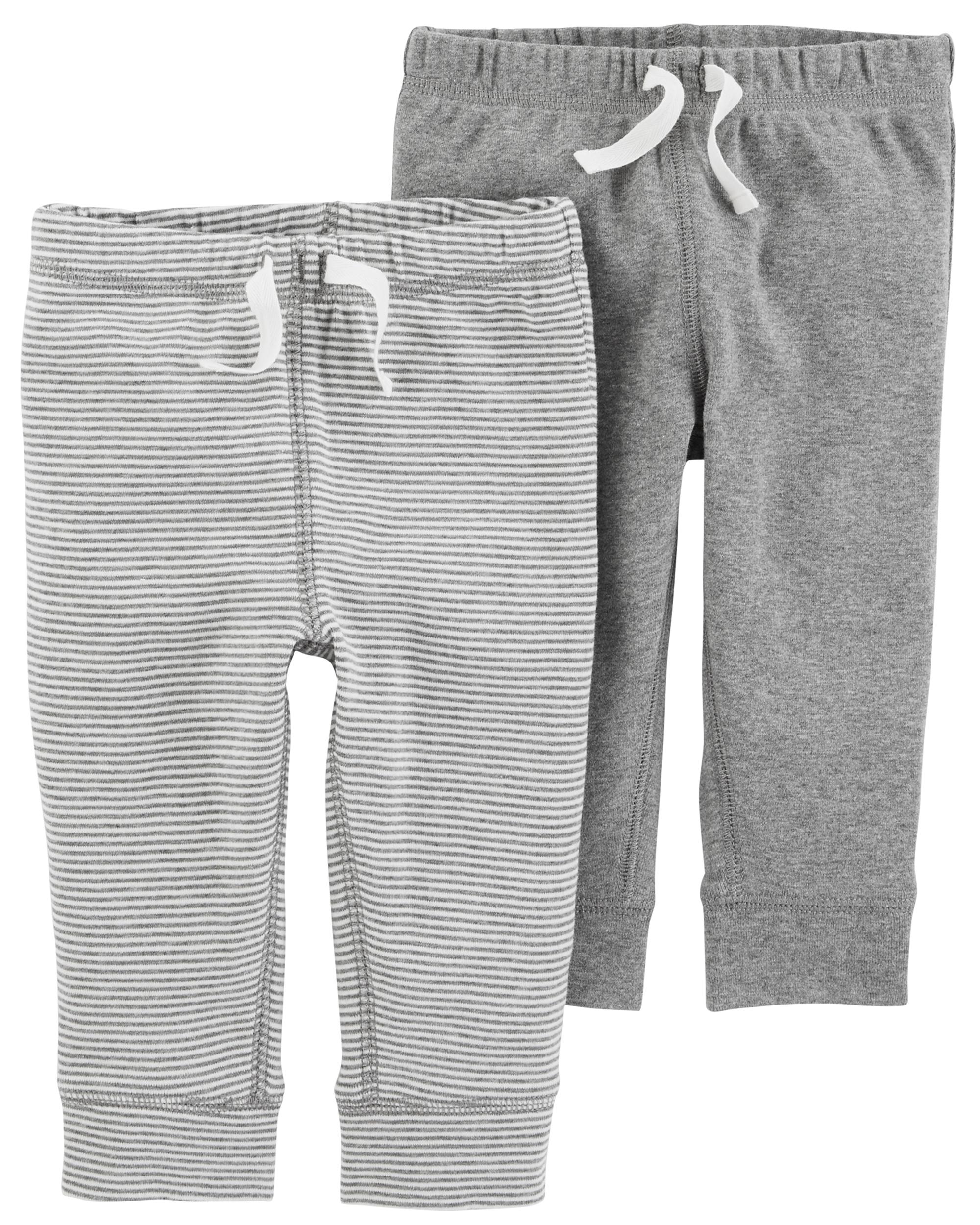 זוג מכנסיים סרט אפור/פסים