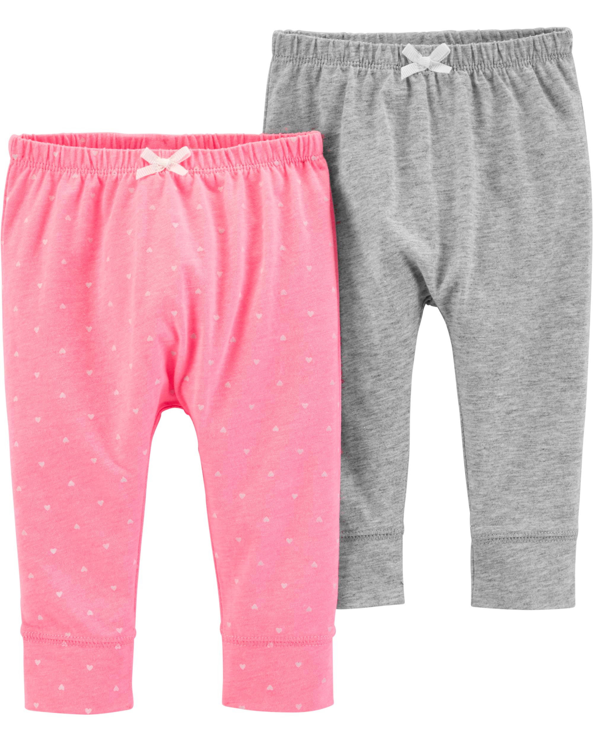 זוג מכנסיים ורוד/אפור