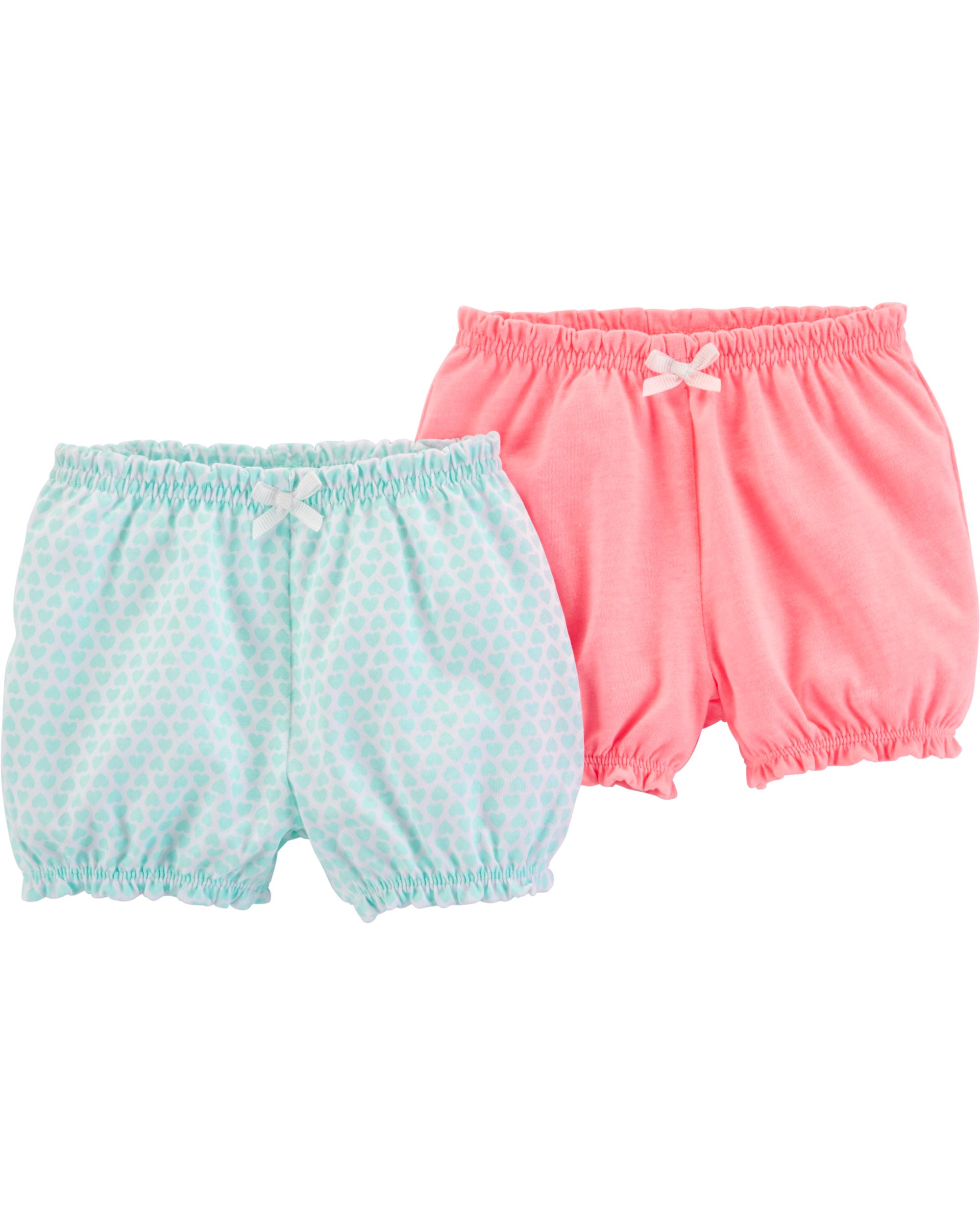 זוג מכנסיים קצרים פסטל