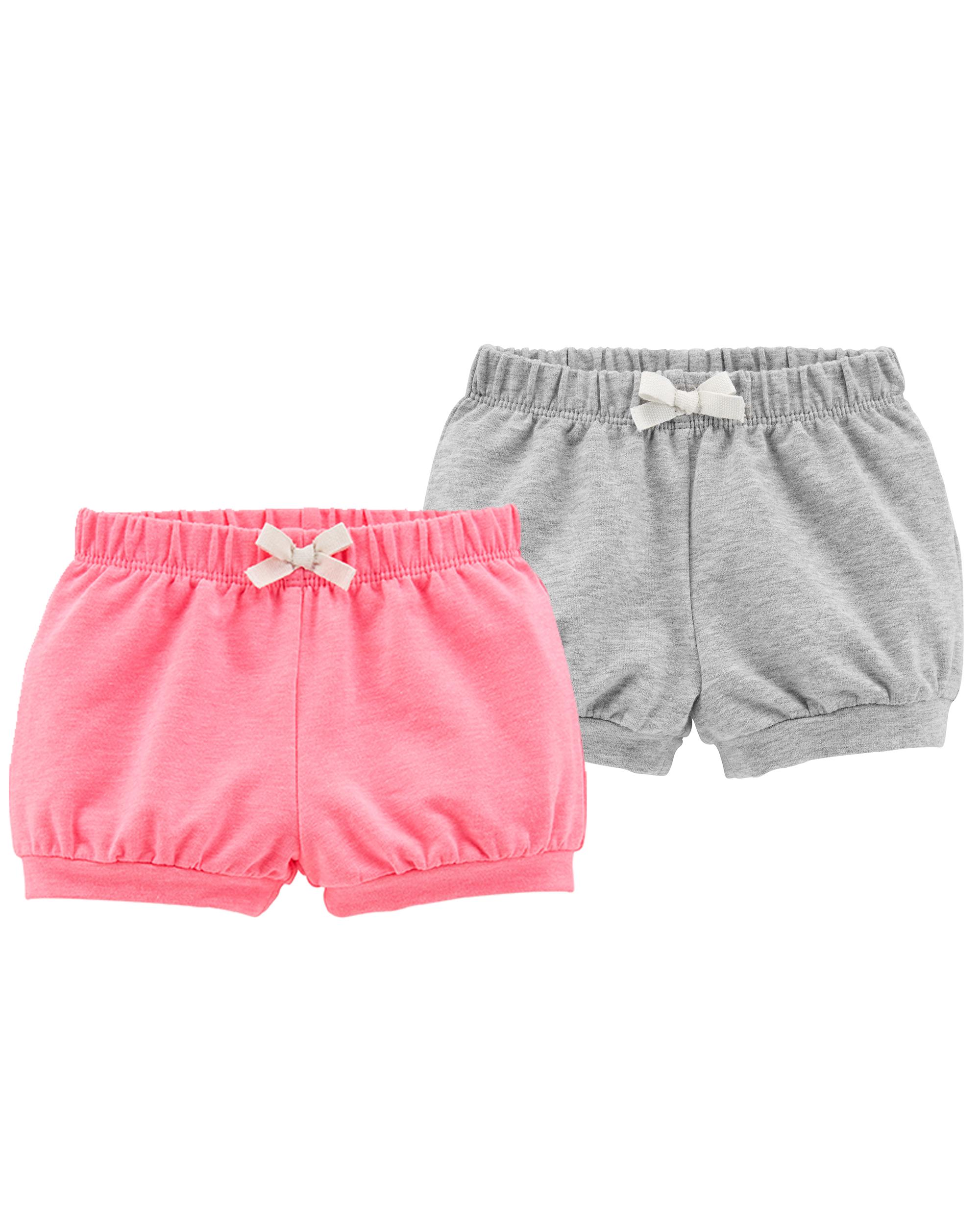 זוג מכנסיים קצרים אפור/ורוד