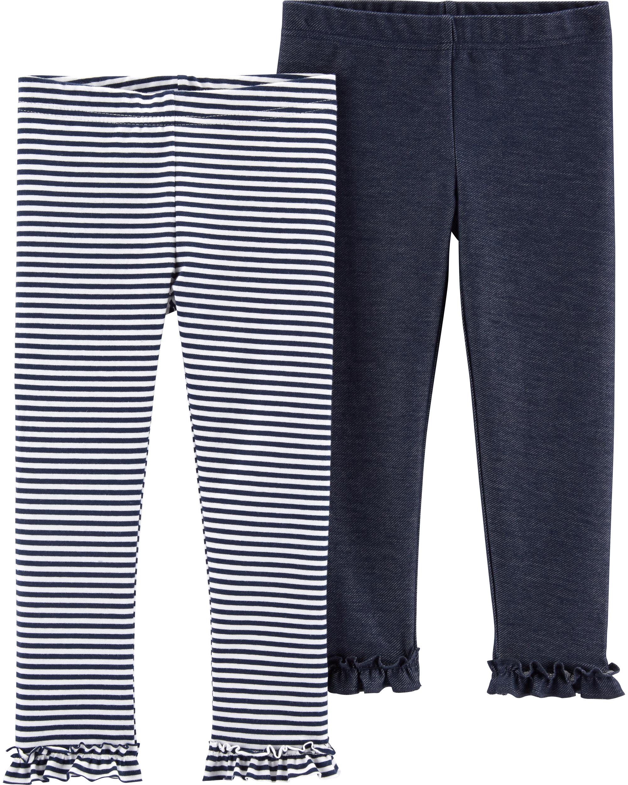 זוג טייצים דמוי ג'ינס/פסים