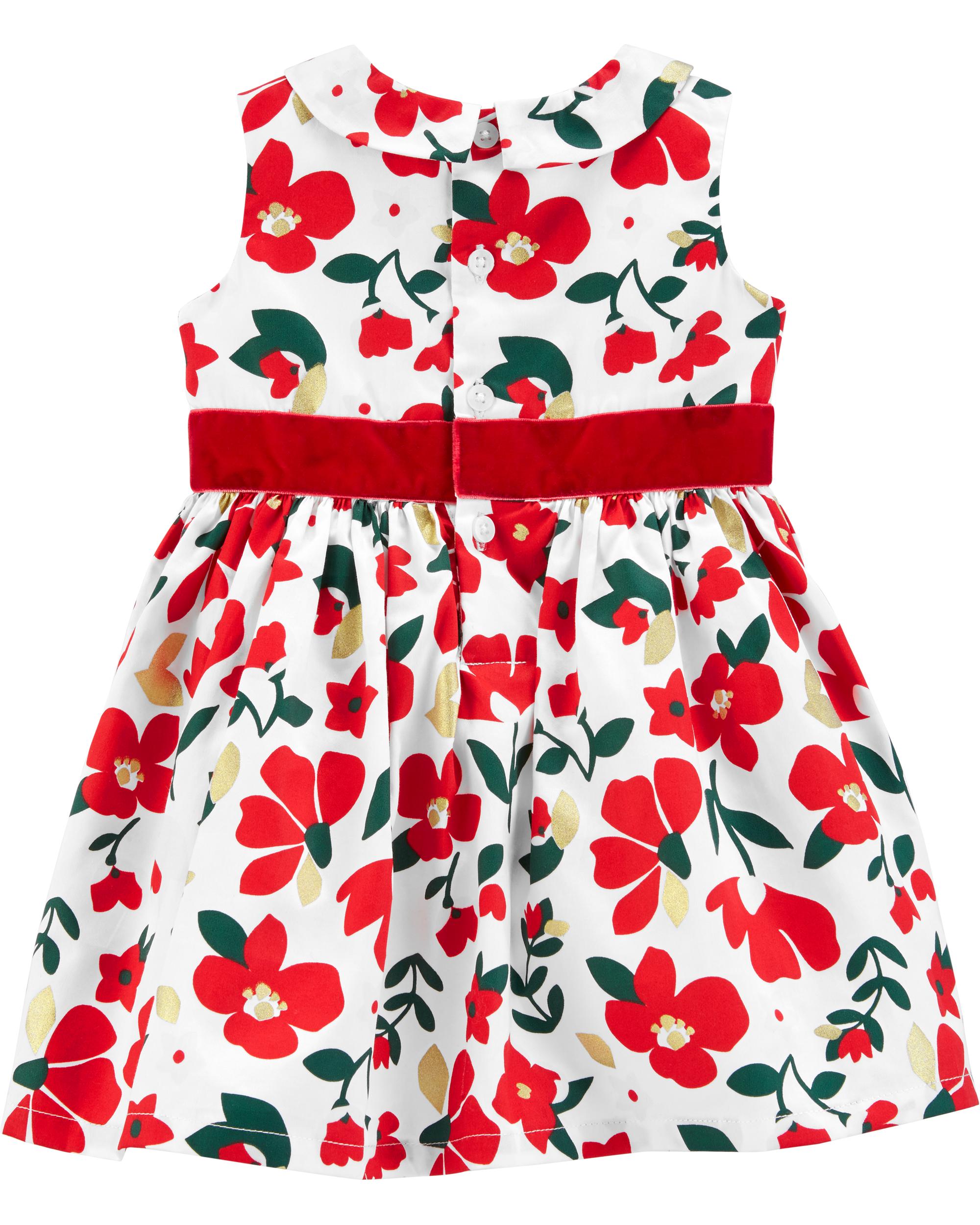 שמלת אריג פרחונית
