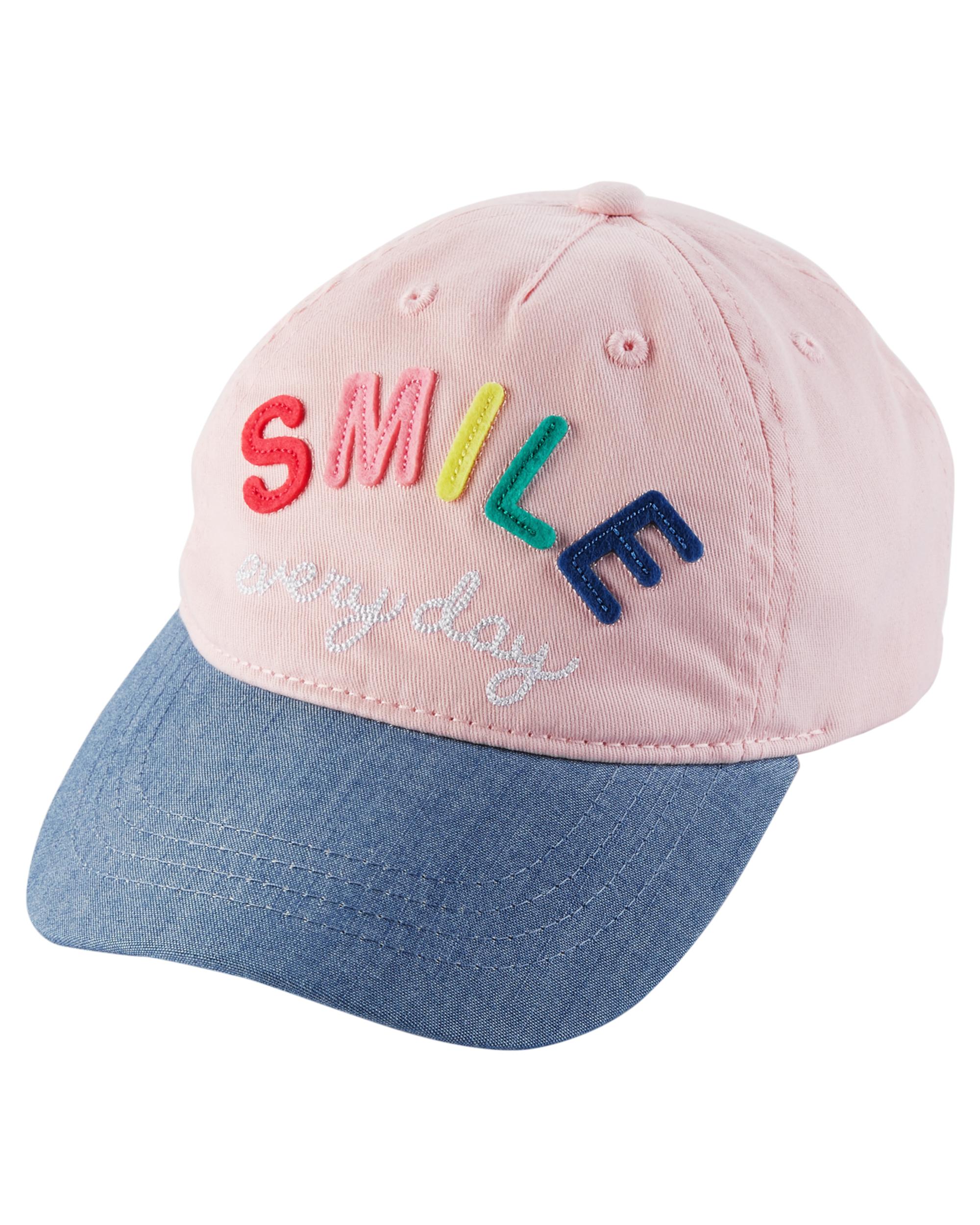 SMILE כובע מצחייה ורוד