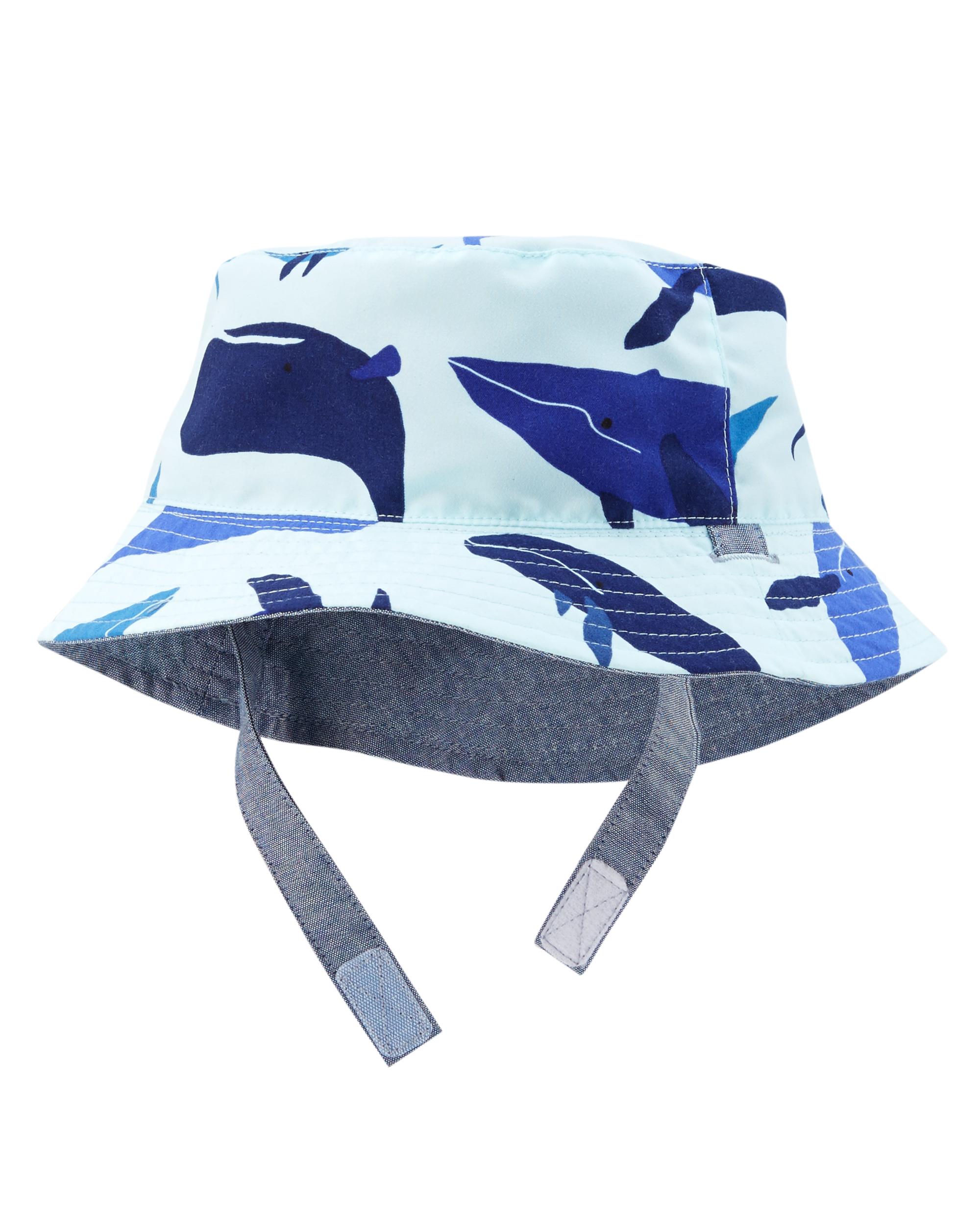 כובע דו צדדי כחול/כרישים