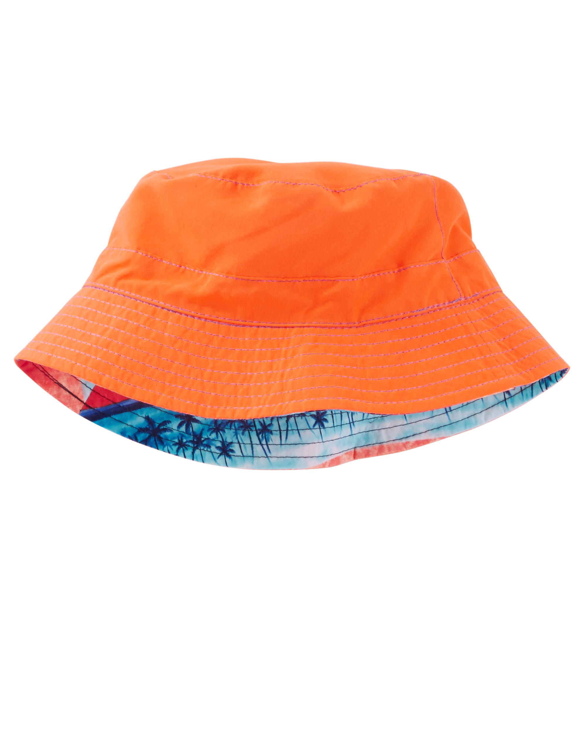 כובע דו צדדי כתום/תכלת