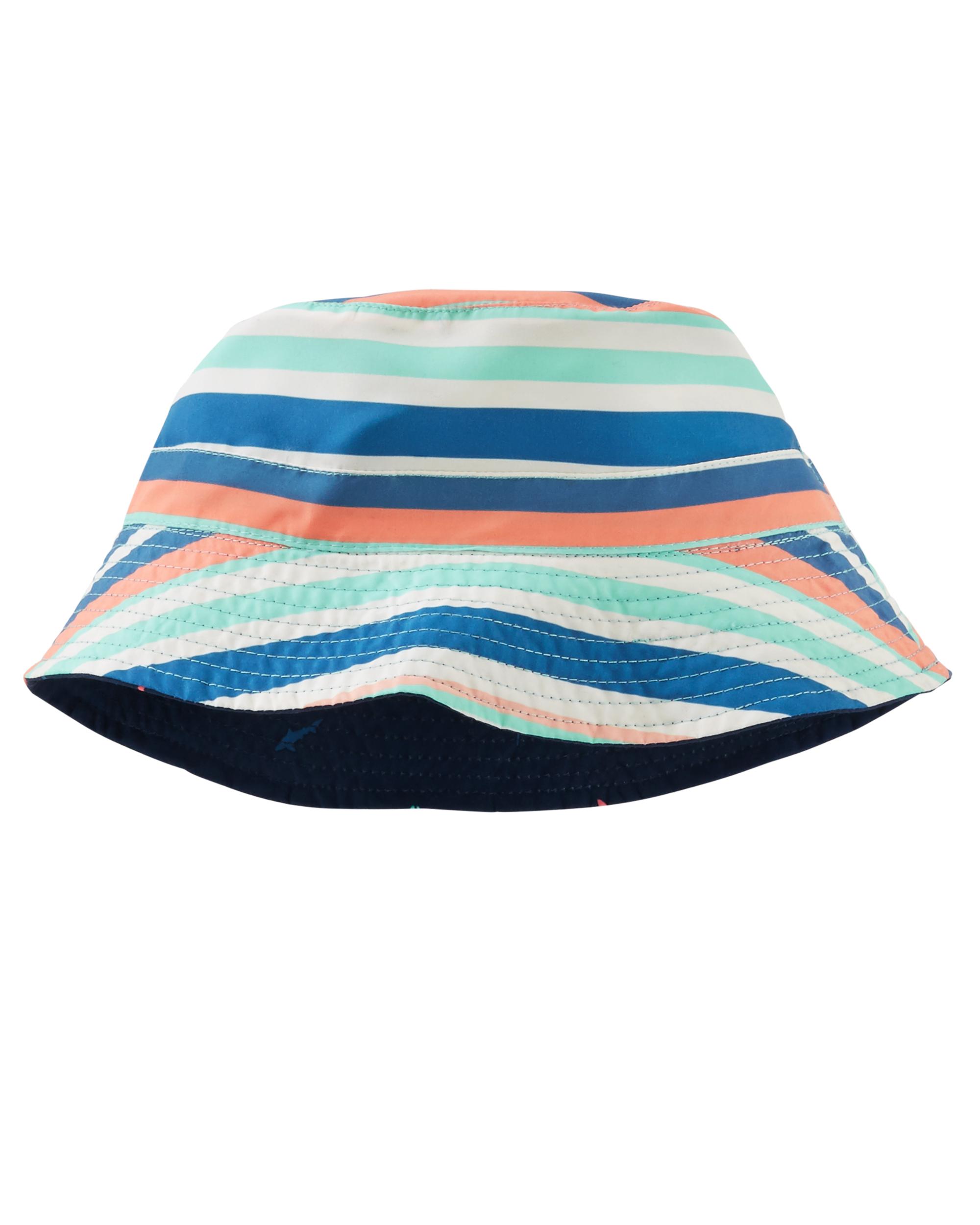 כובע דו צדדי נייבי/פסים