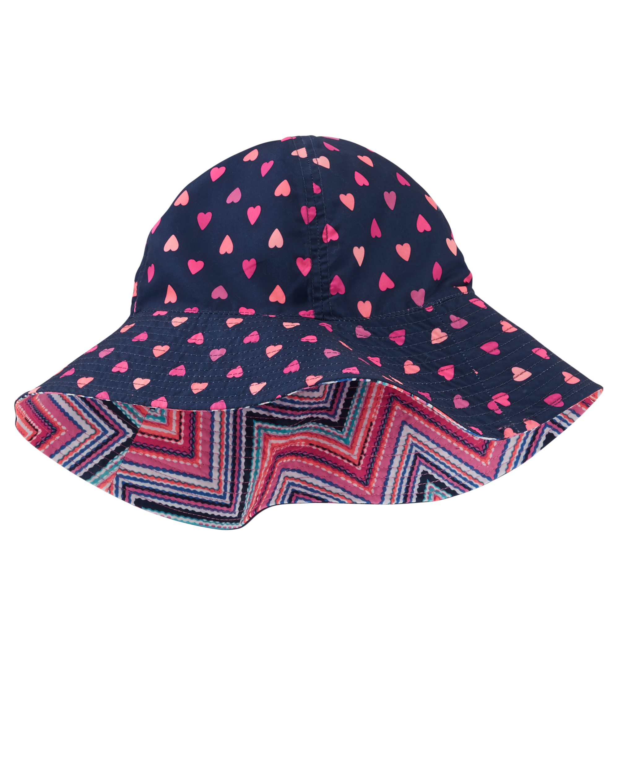 כובע דו צדדי זיג זג/נקודות