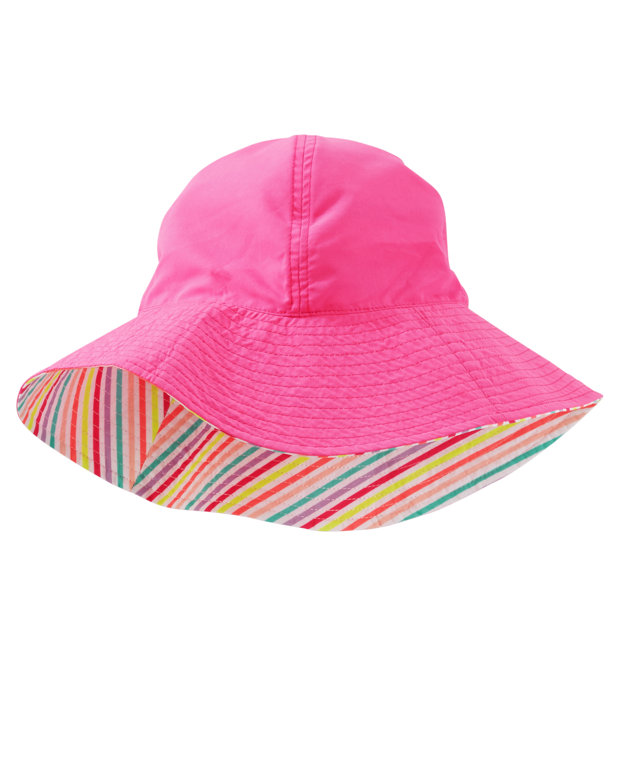 כובע פסים /פרח פוקסיה