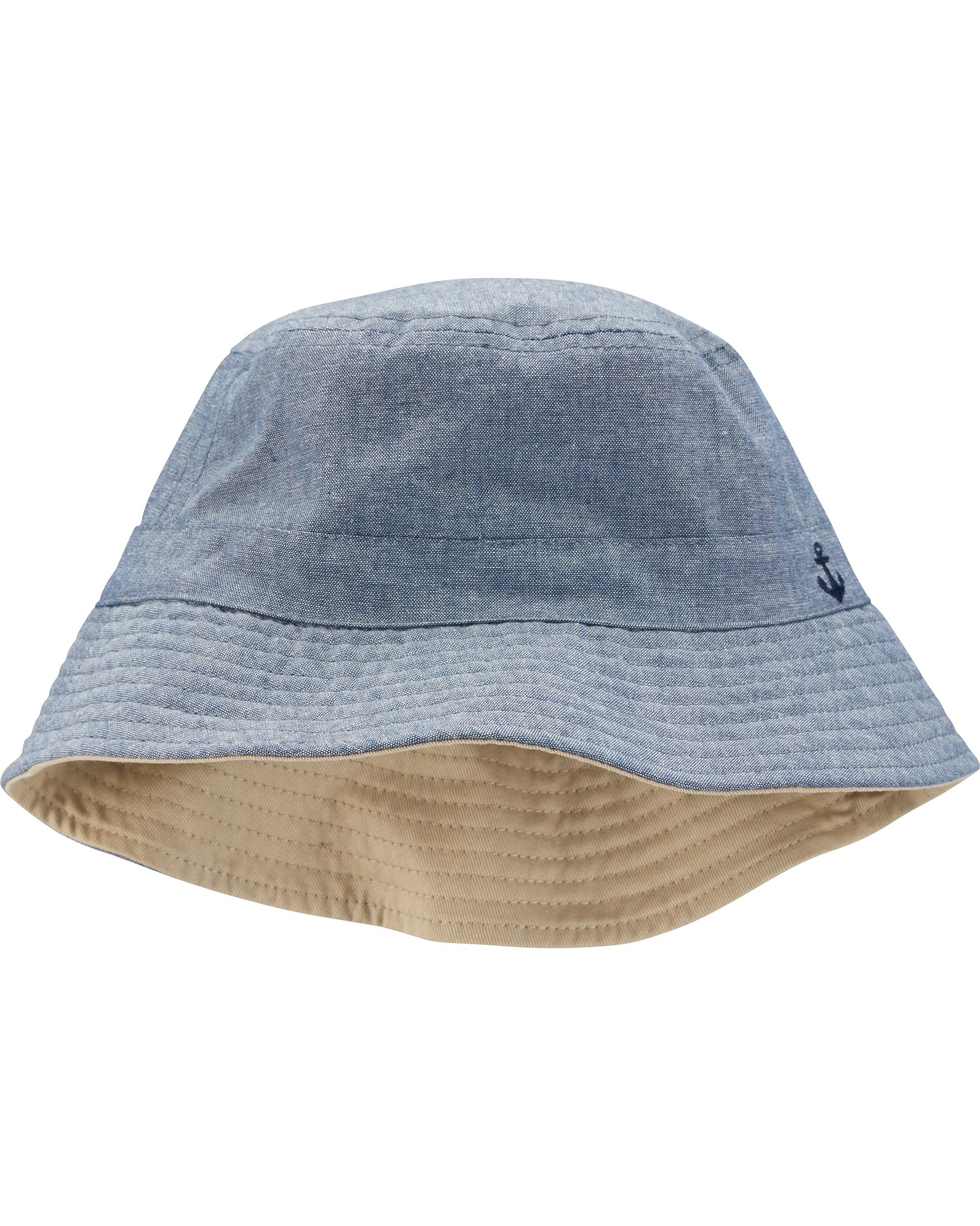 כובע דו צדדי ג'ינס כאמל