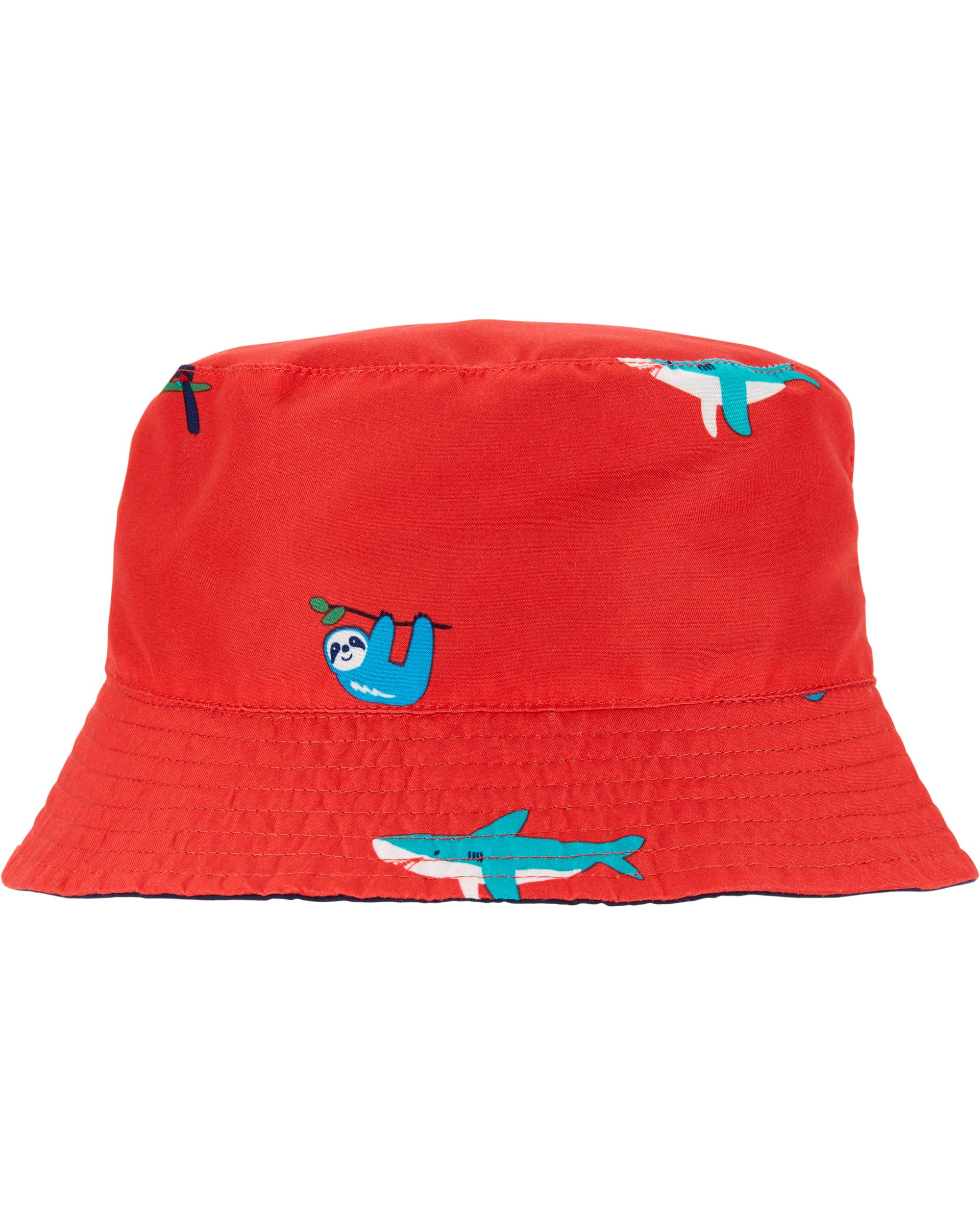 כובע  דו צדדי נייבי אדום