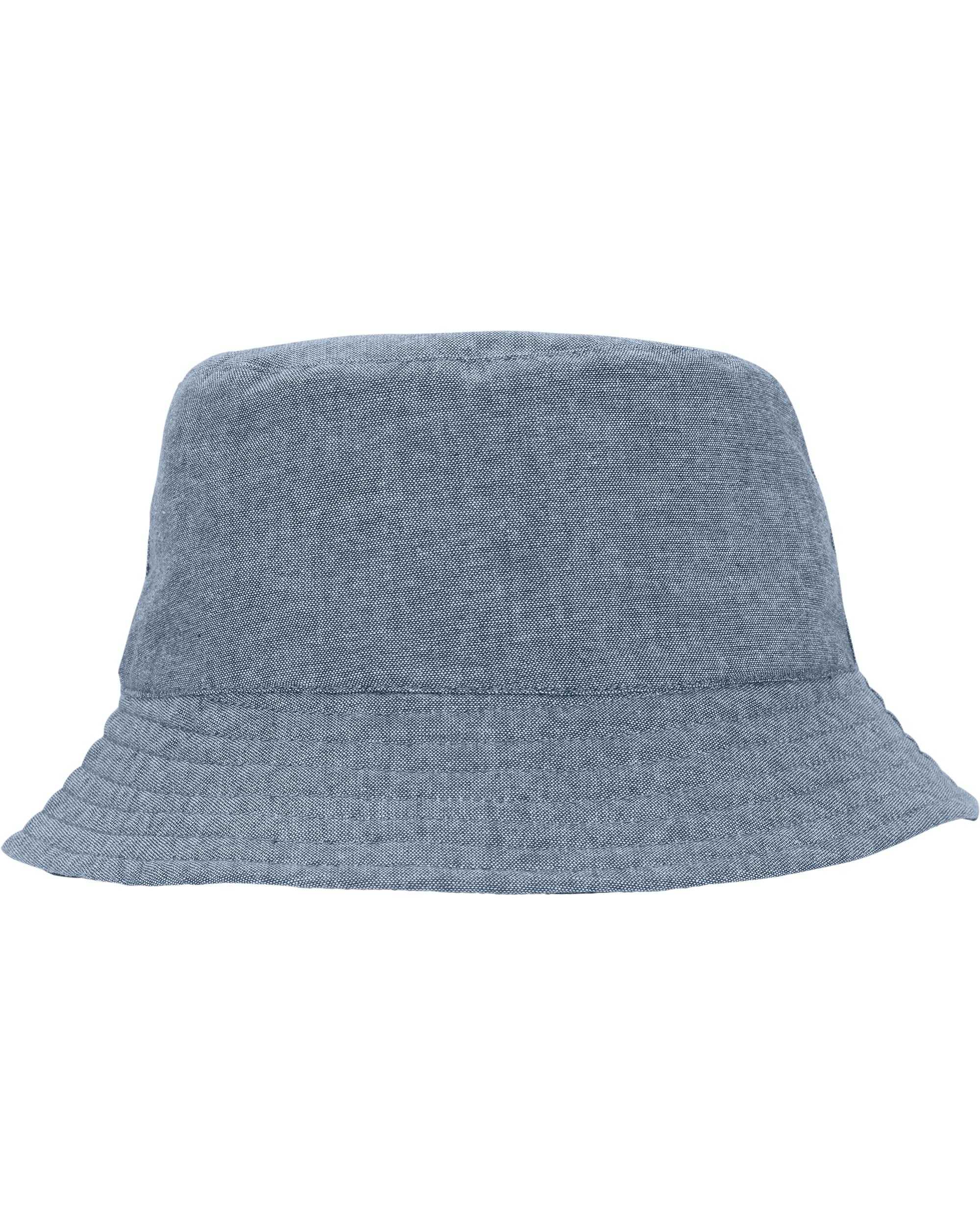 כובע  דו צדדי פסים כחול
