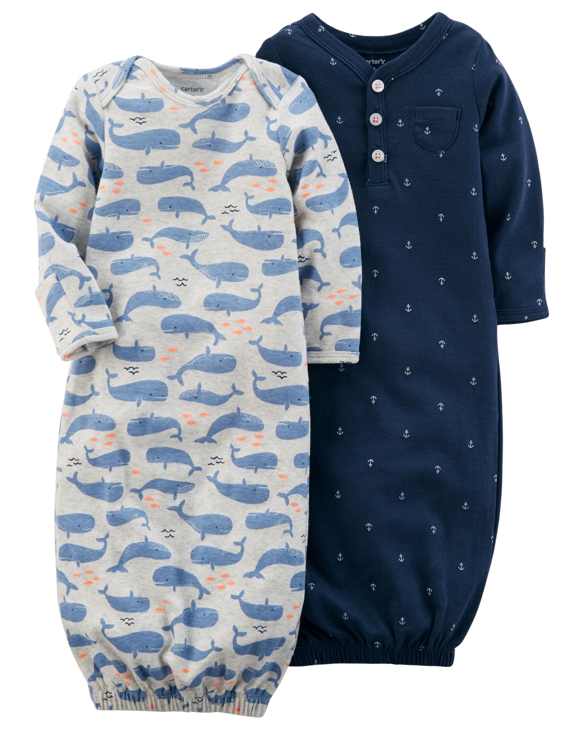זוג שקי שינה לויתנים/כחול