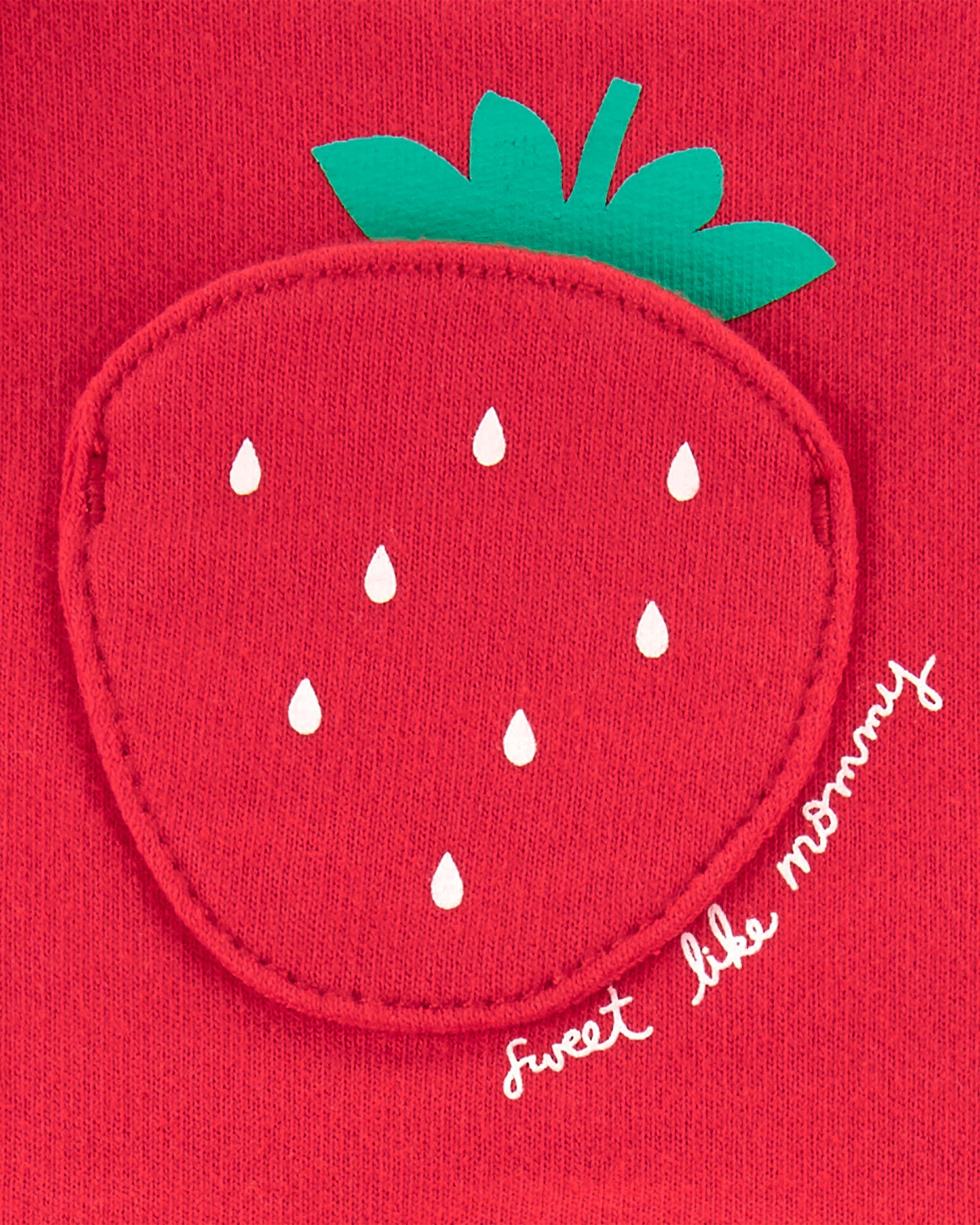 אוברול קצר תות וחולצה