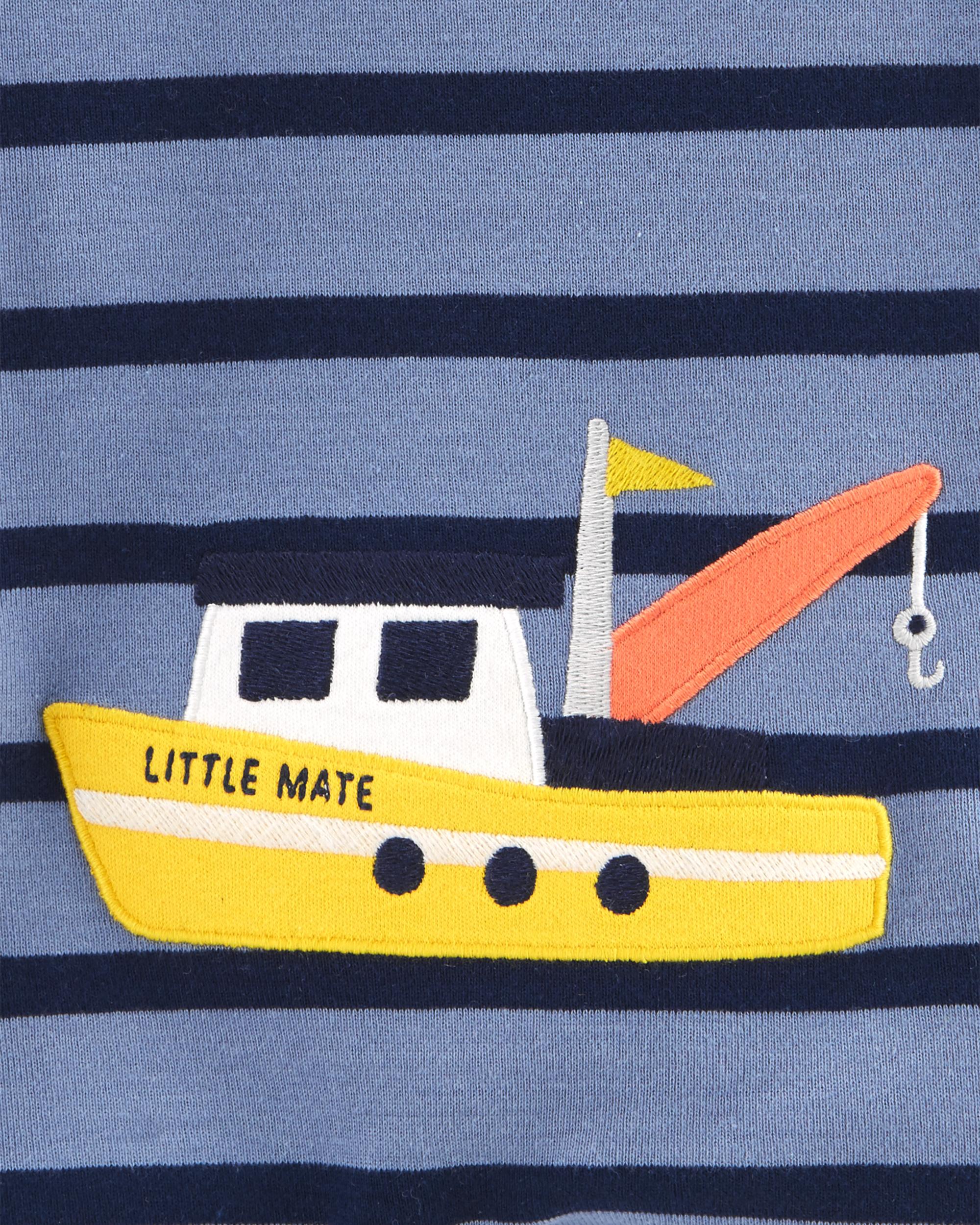 אוברול קצר פסים אונייה
