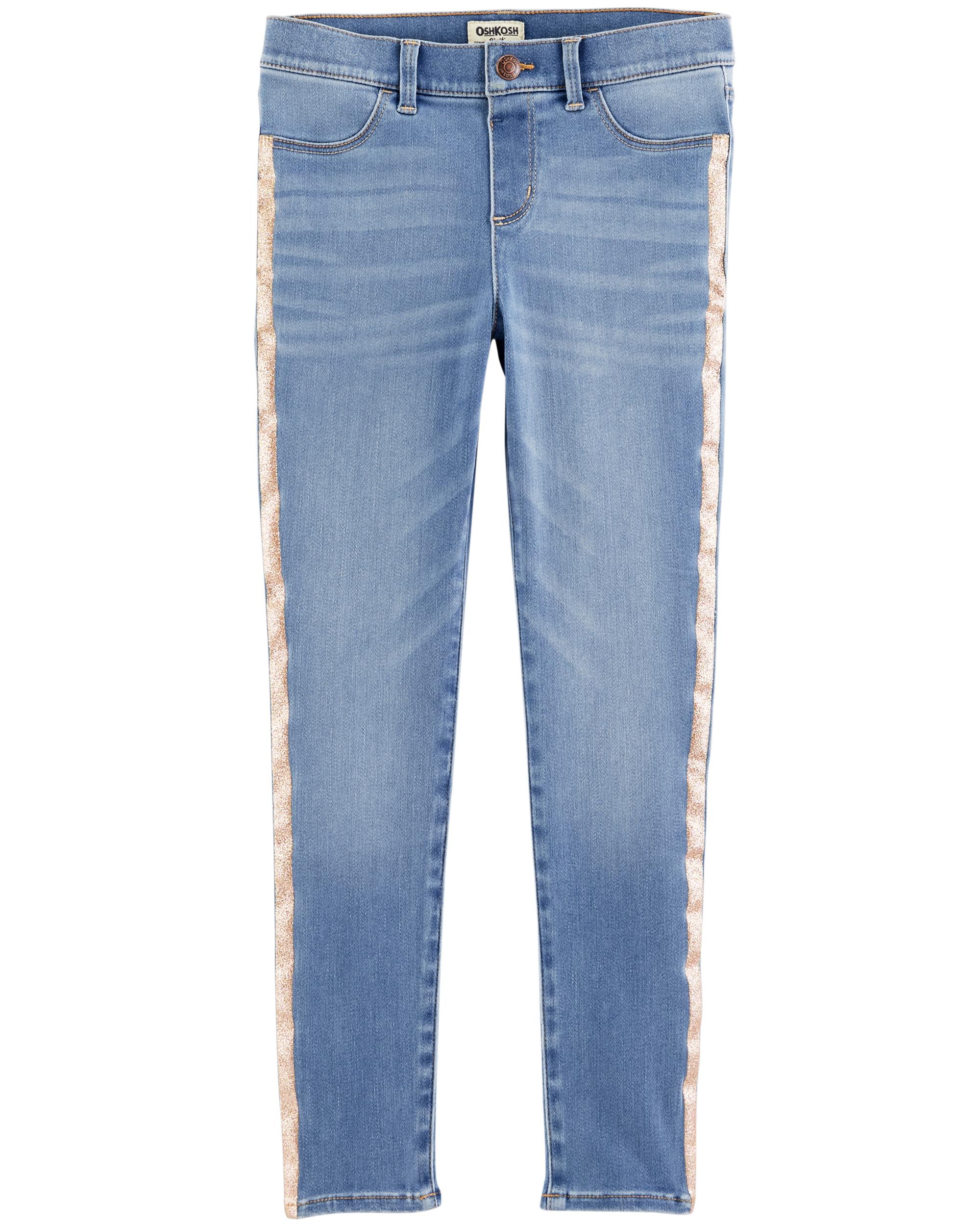 מכנס ג'ינס פס מנצנץ