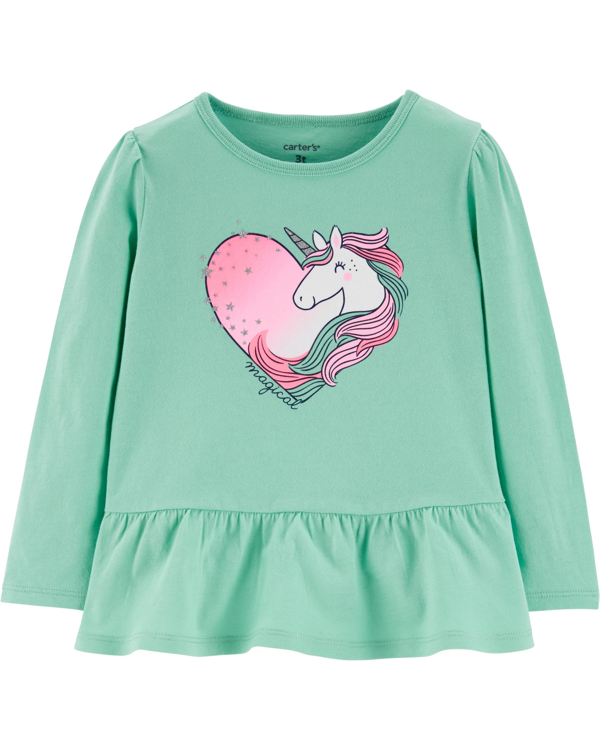 חולצת חד קרן לב