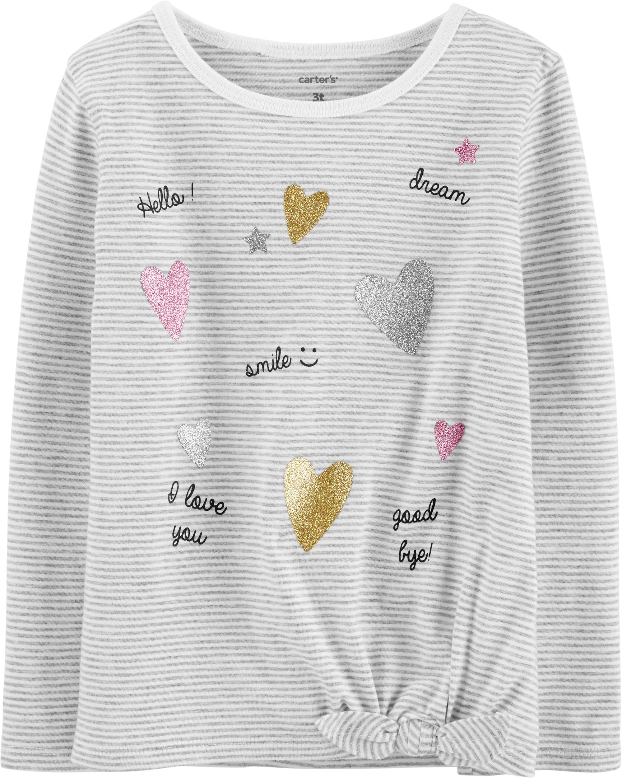 חולצת לבבות פייטים