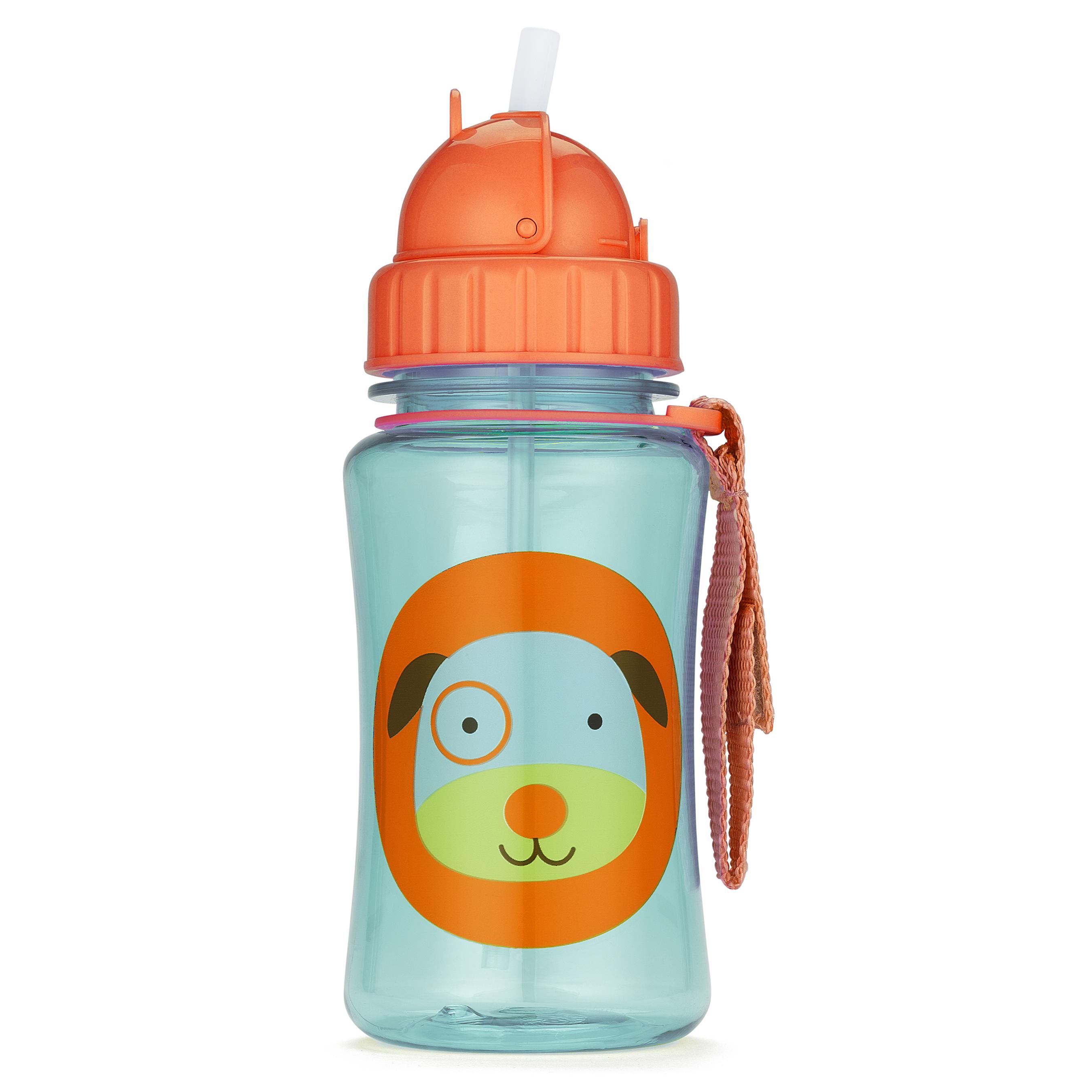 בקבוק שתיה עם קשית כלב