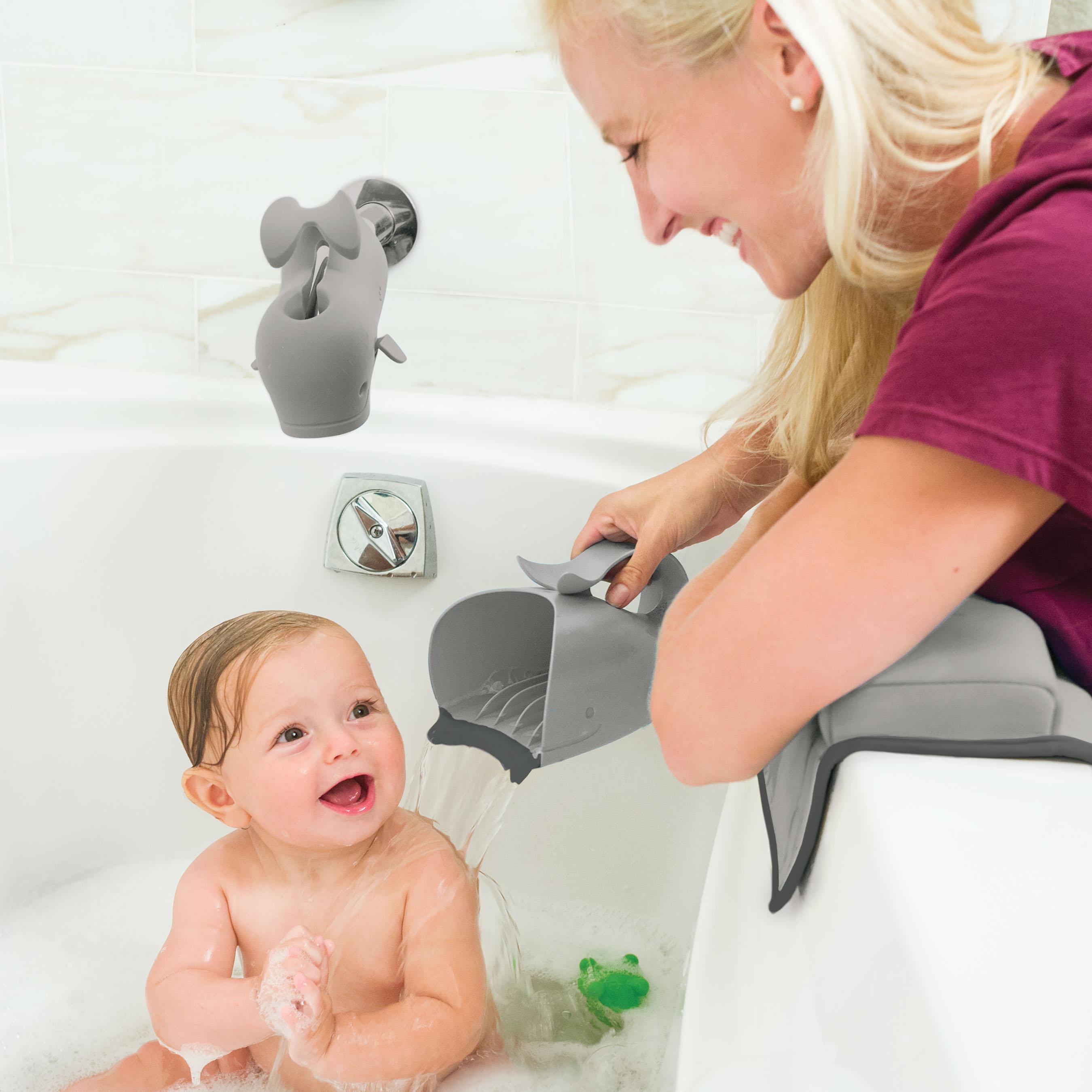 משפך לויתן לאמבטיה אפור
