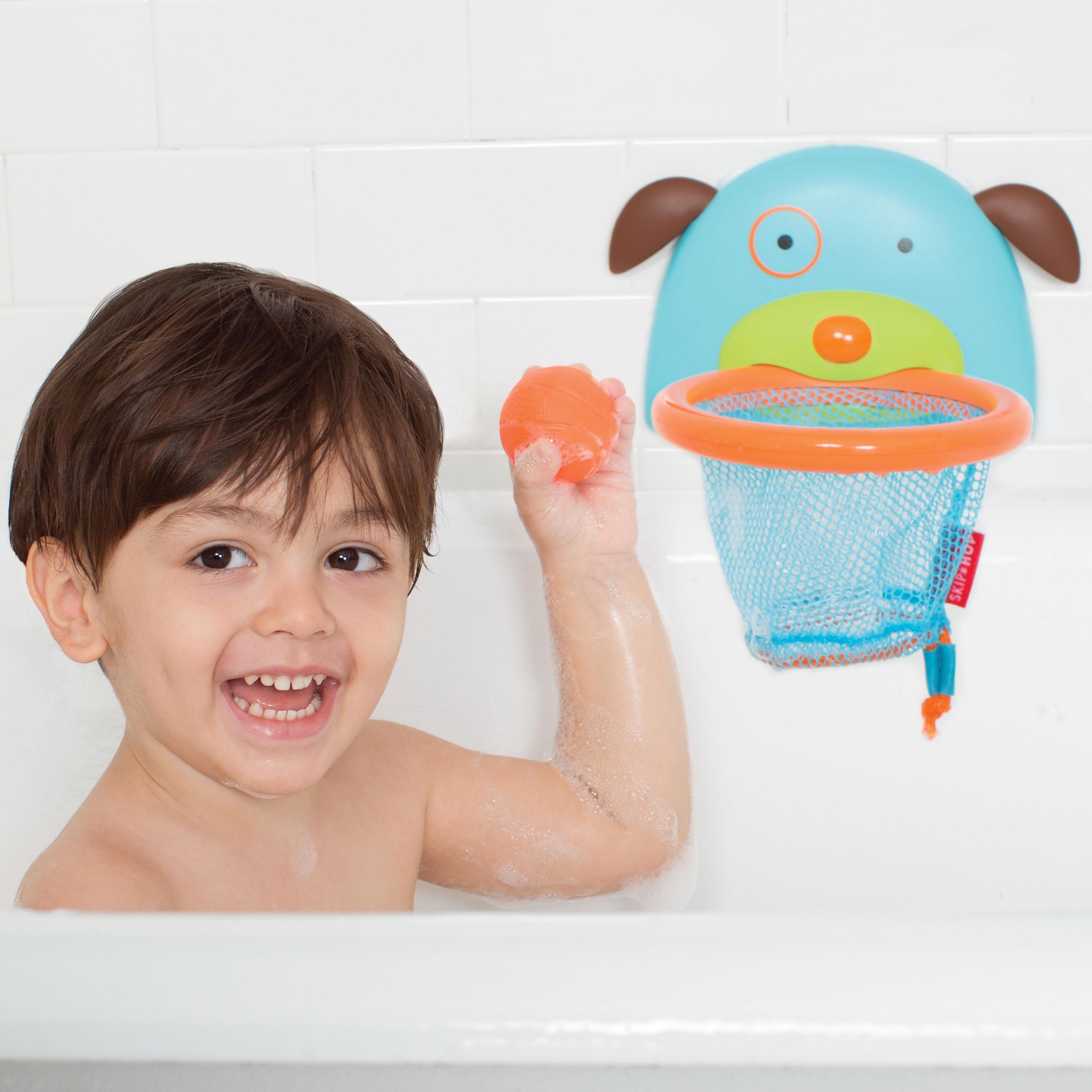 משחק אמבטיה - כלבלב כדורסל
