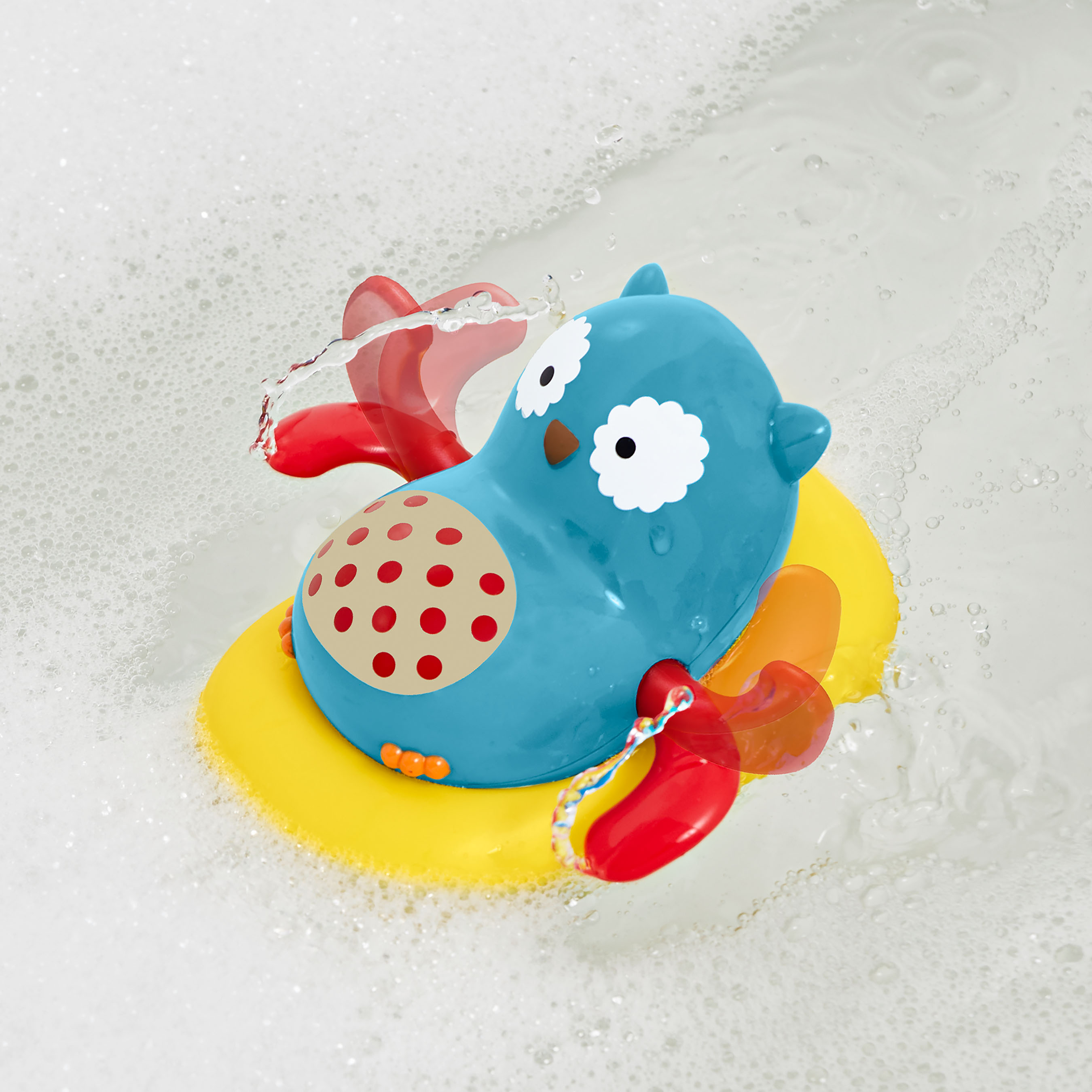 משחק אמבטיה - ינשוף בסירת פדלים