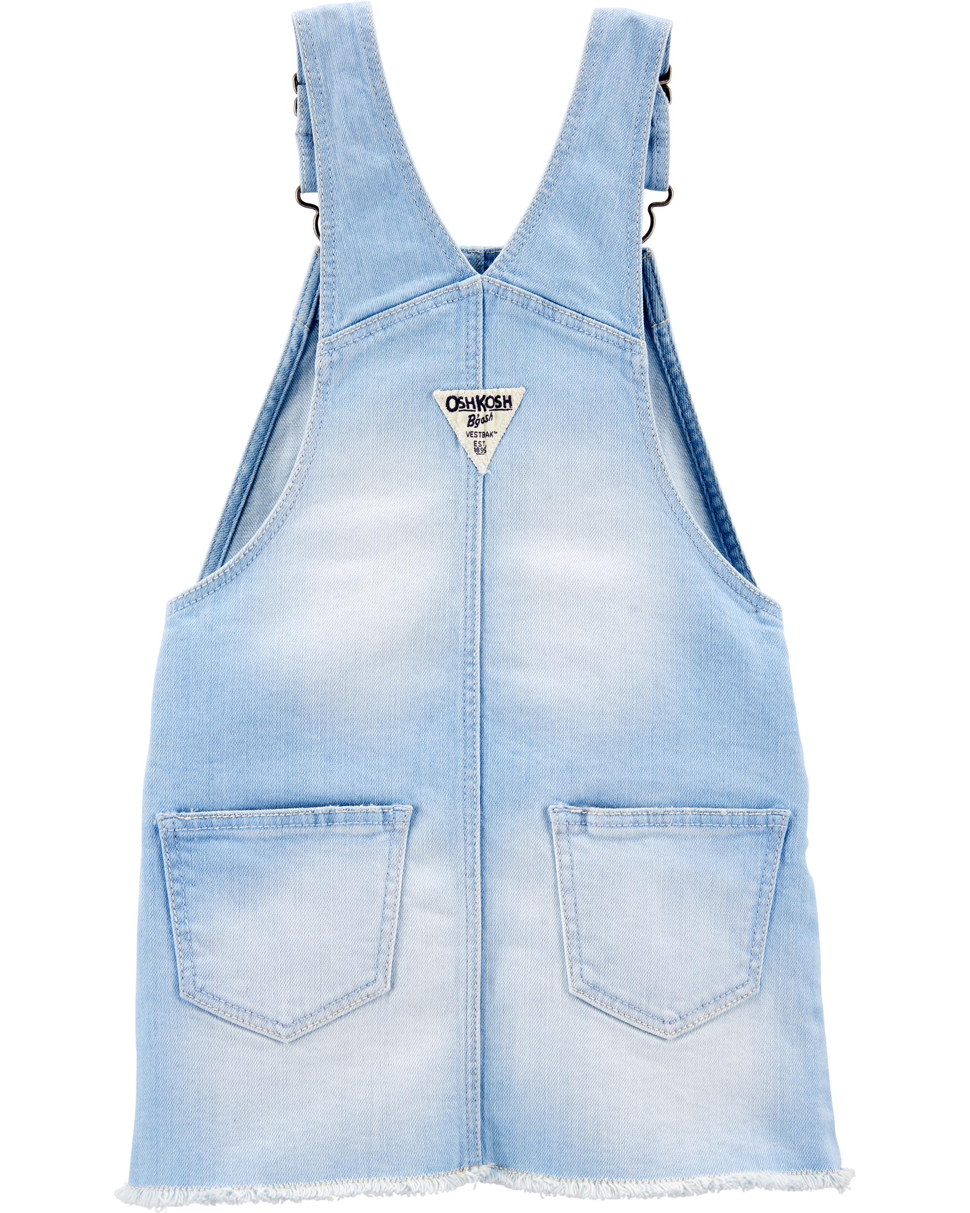 אוברול ג'ינס חצאית ילדות