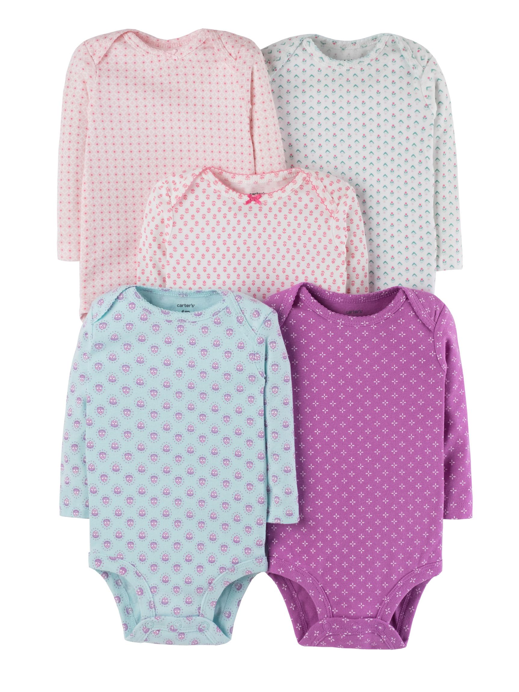 חמישיית בגדי גוף דפוסים קטנים