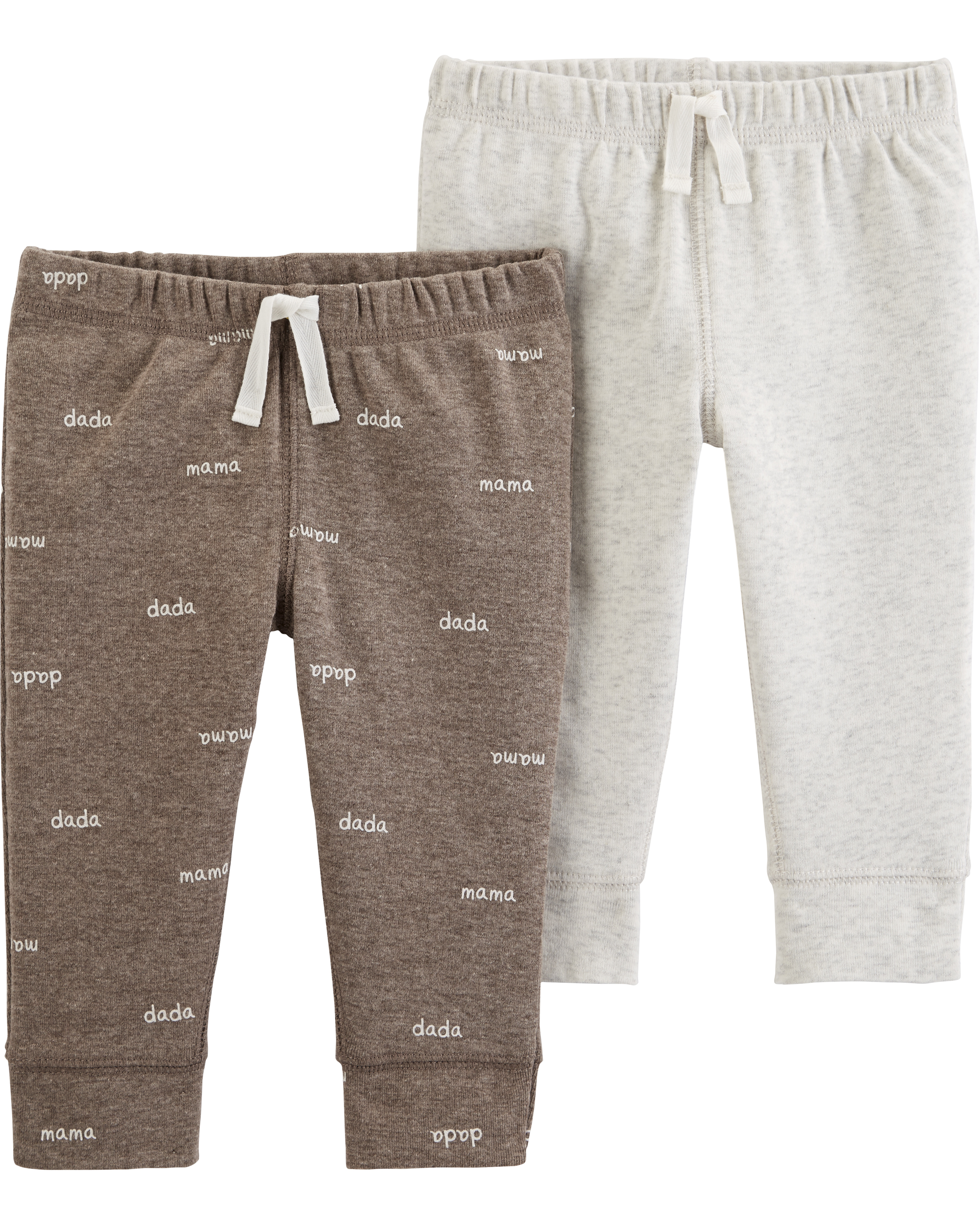 זוג מכנסיים חלק ומודפס
