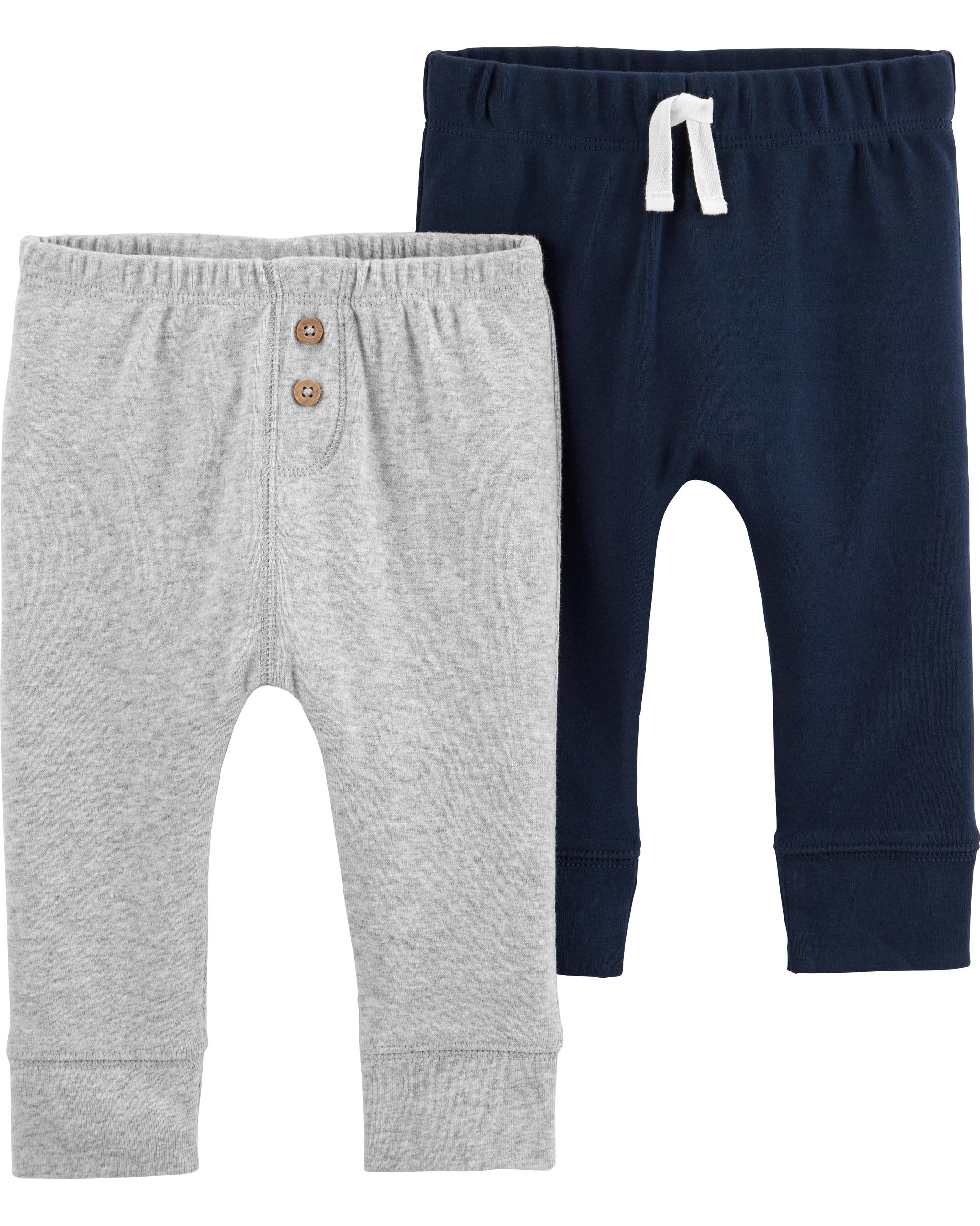 זוג מכנסיים נייבי/מלאנג'