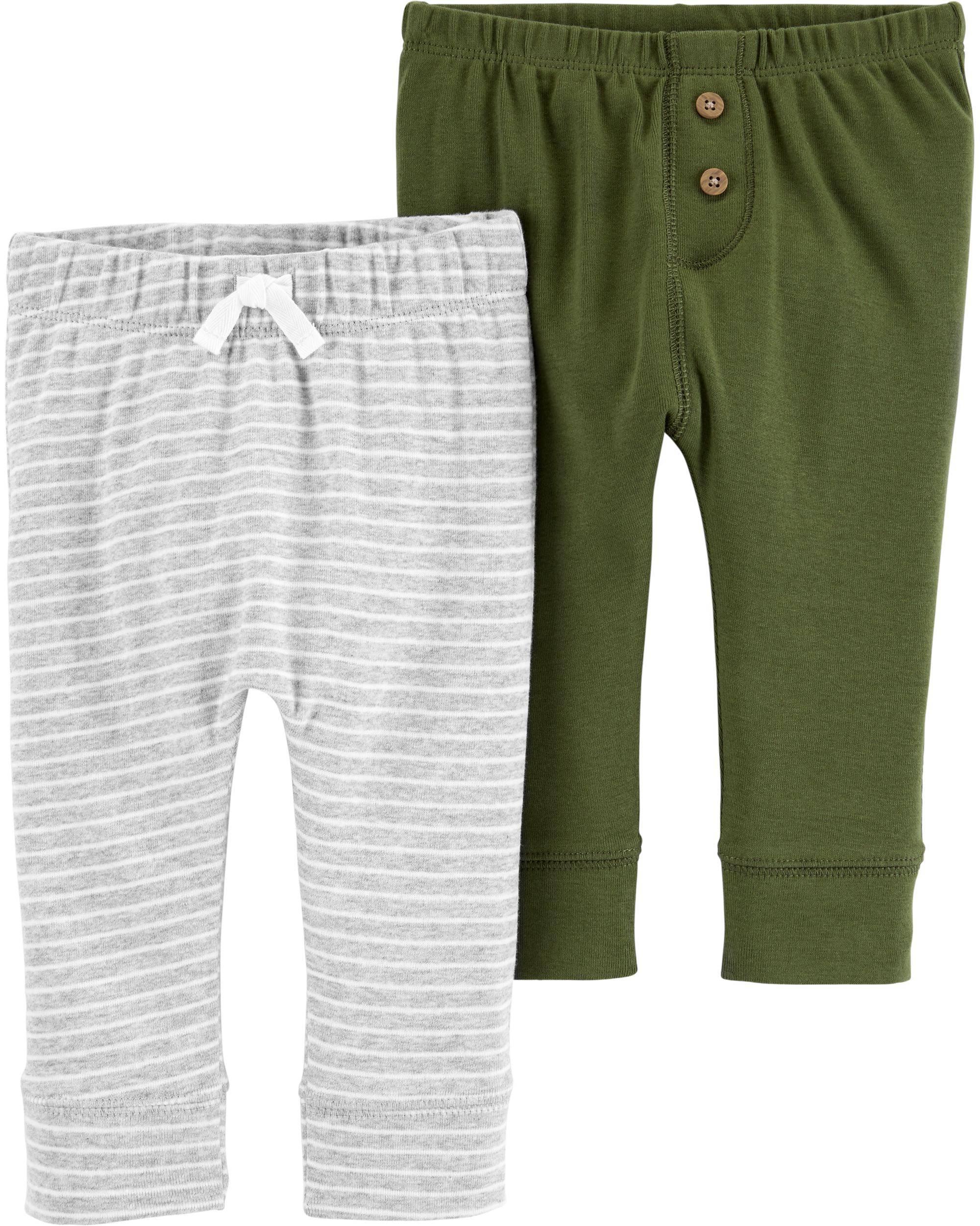 זוג מכנסיים זית מלאנג