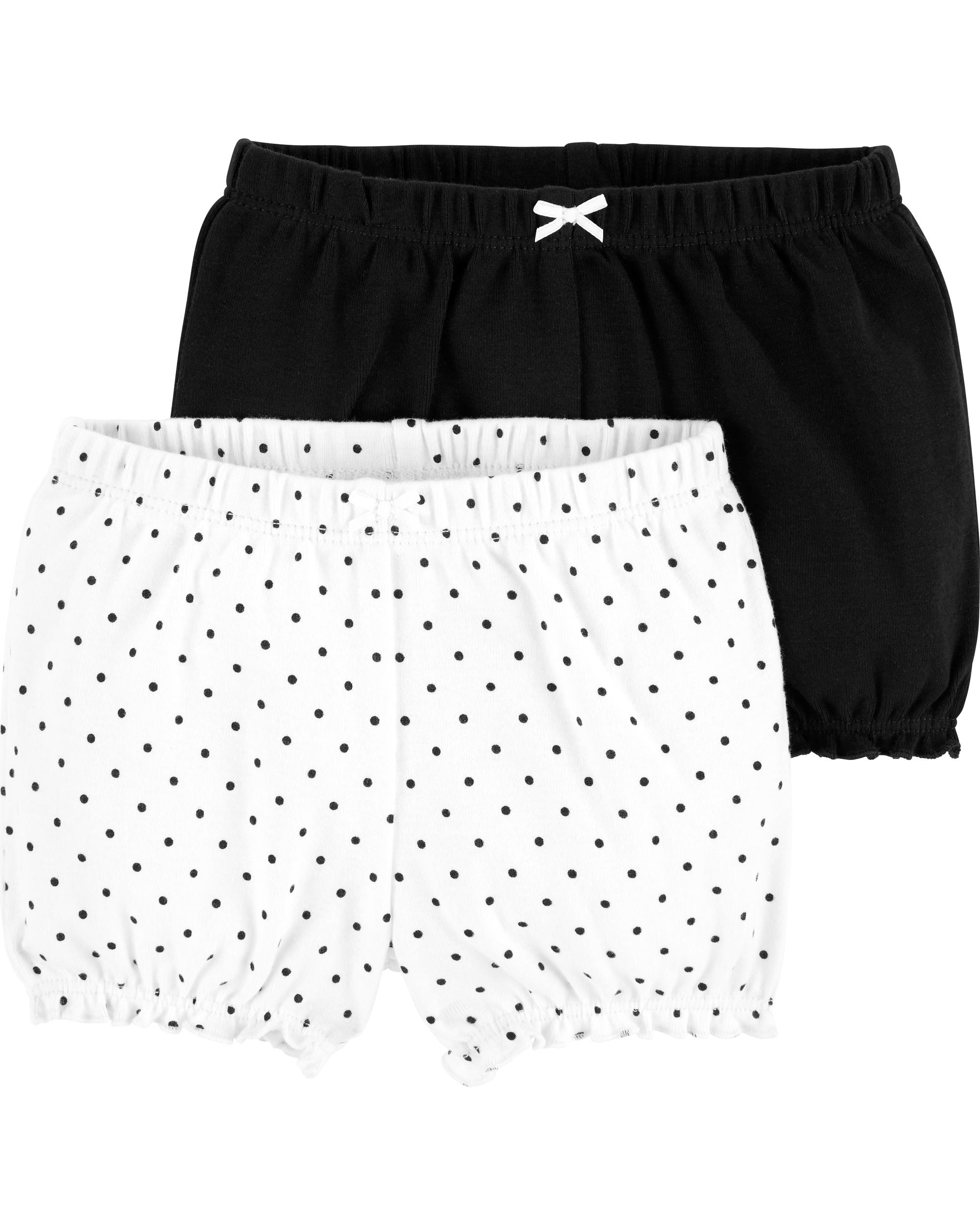 זוג מכנסיים קצרים שחור לבן