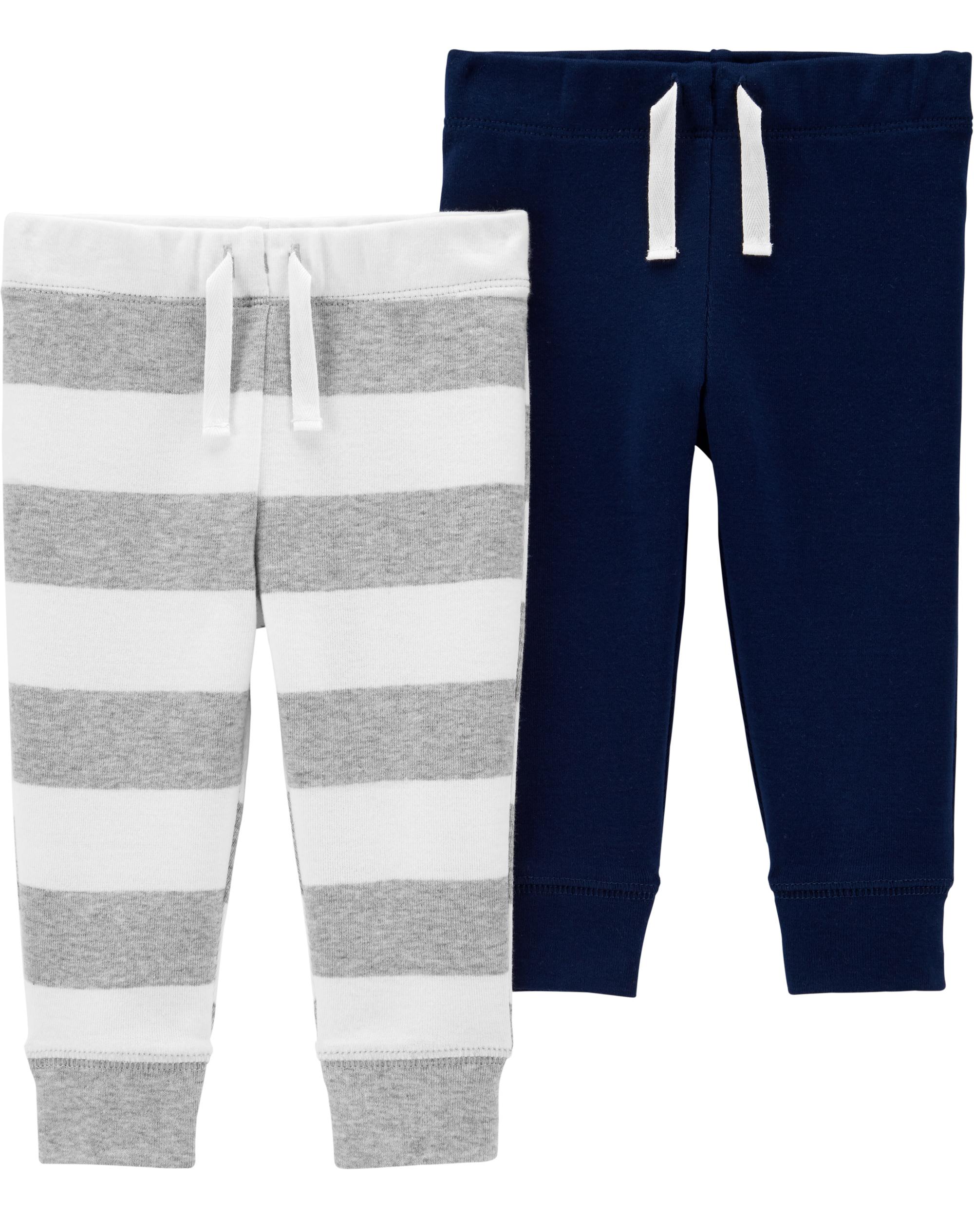 זוג מכנסיים פסים חלק