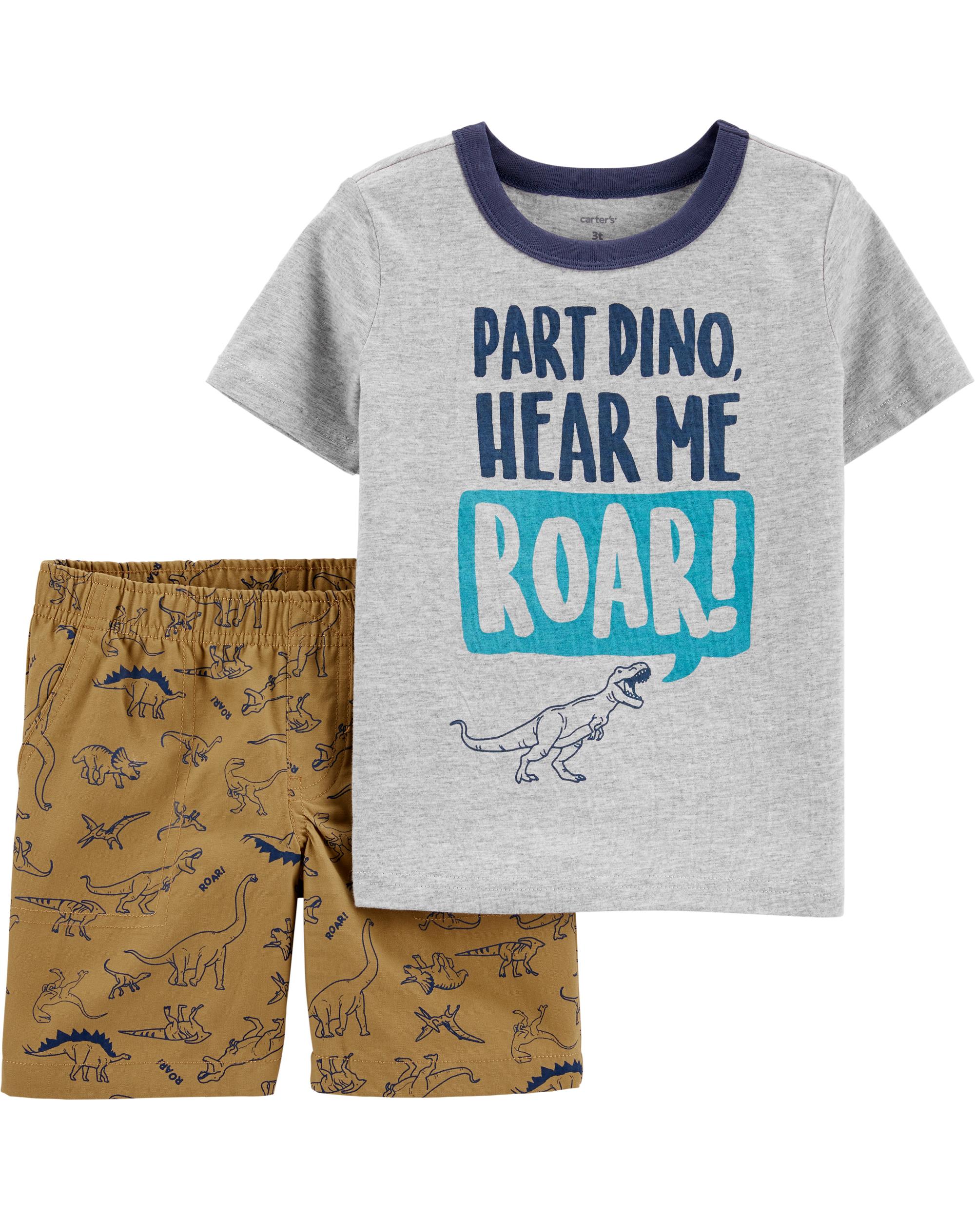 חליפת 2 חלקים דינוזאורים
