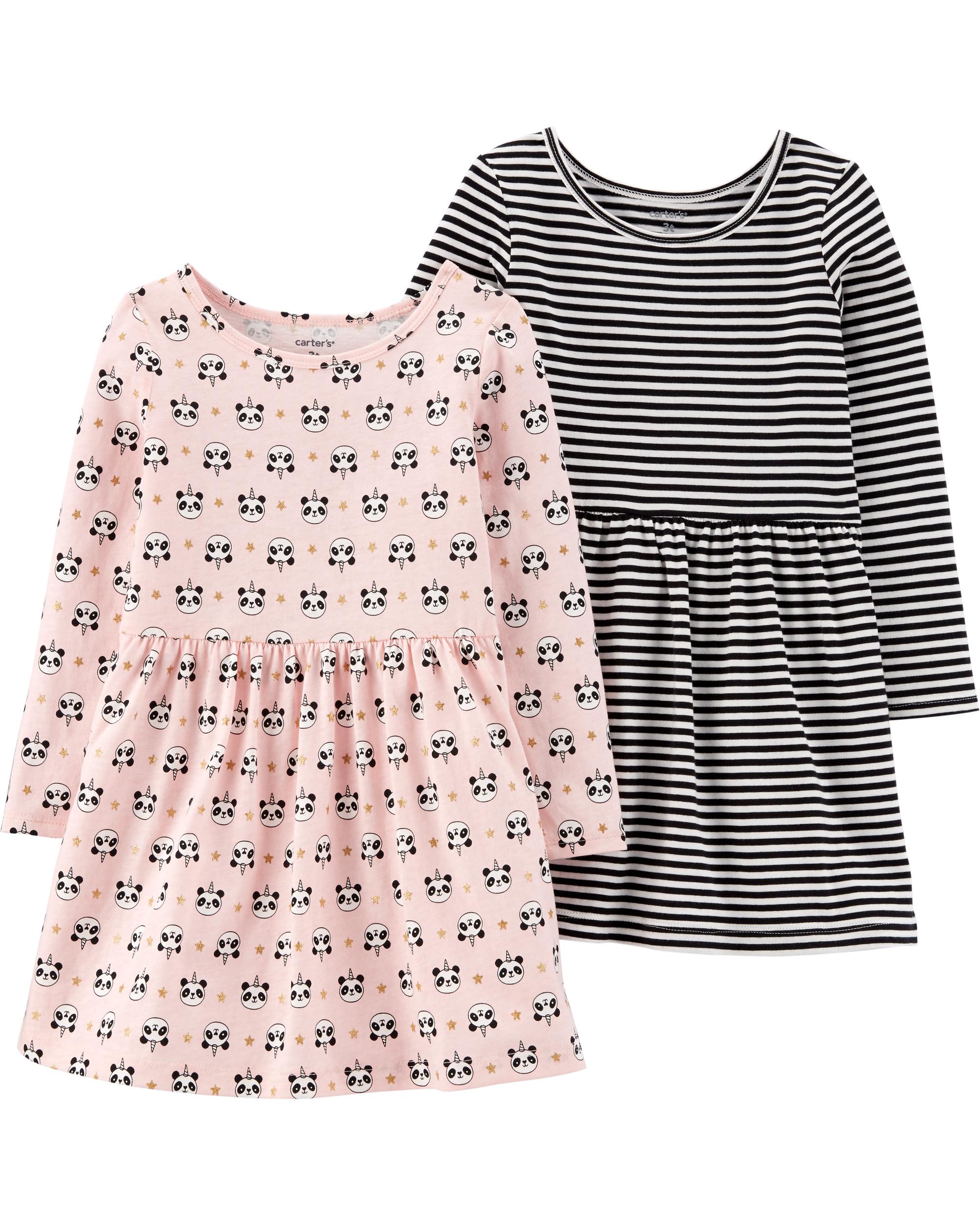 זוג שמלות פנדה/פסים
