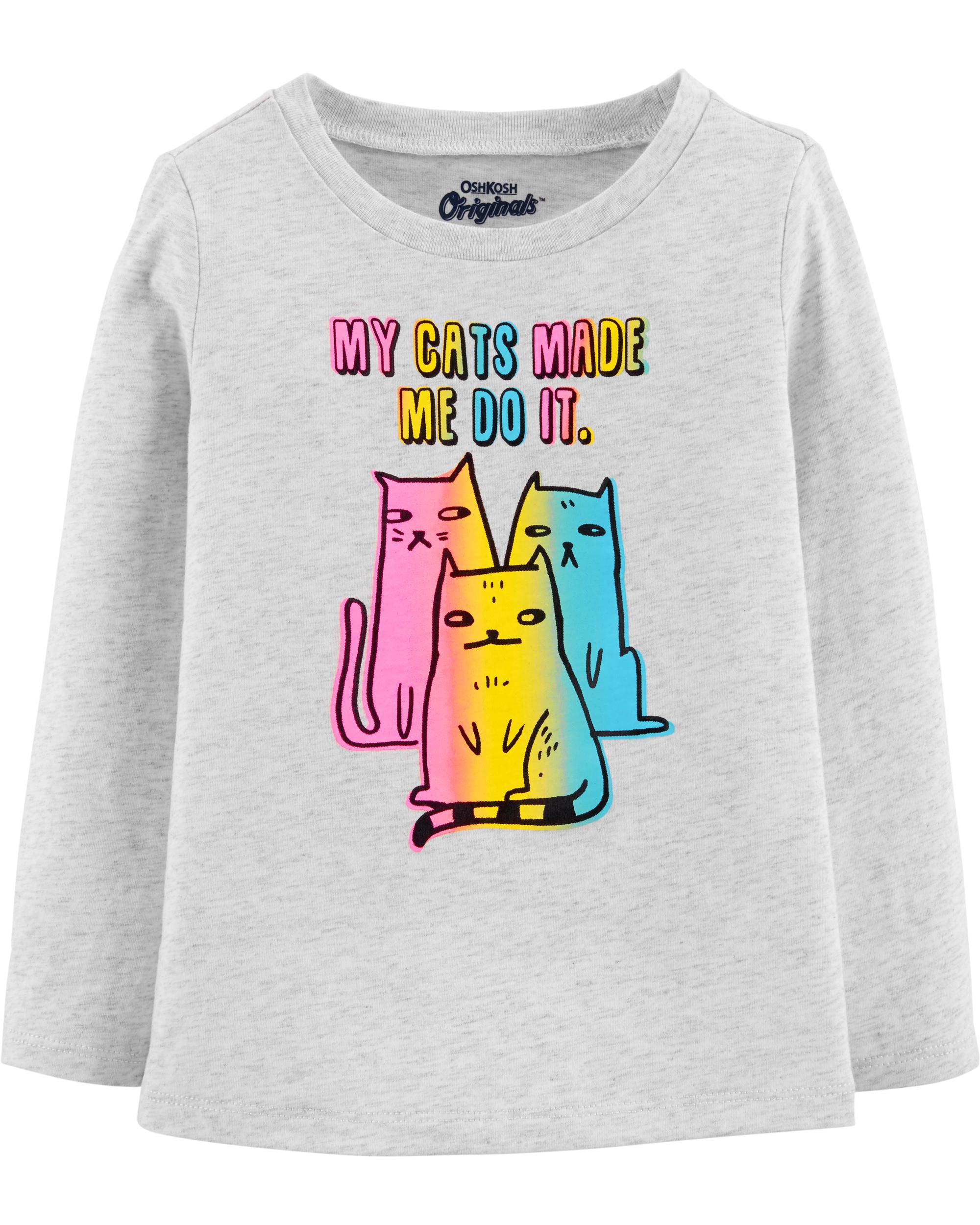 חולצת חתולים צבעוניים