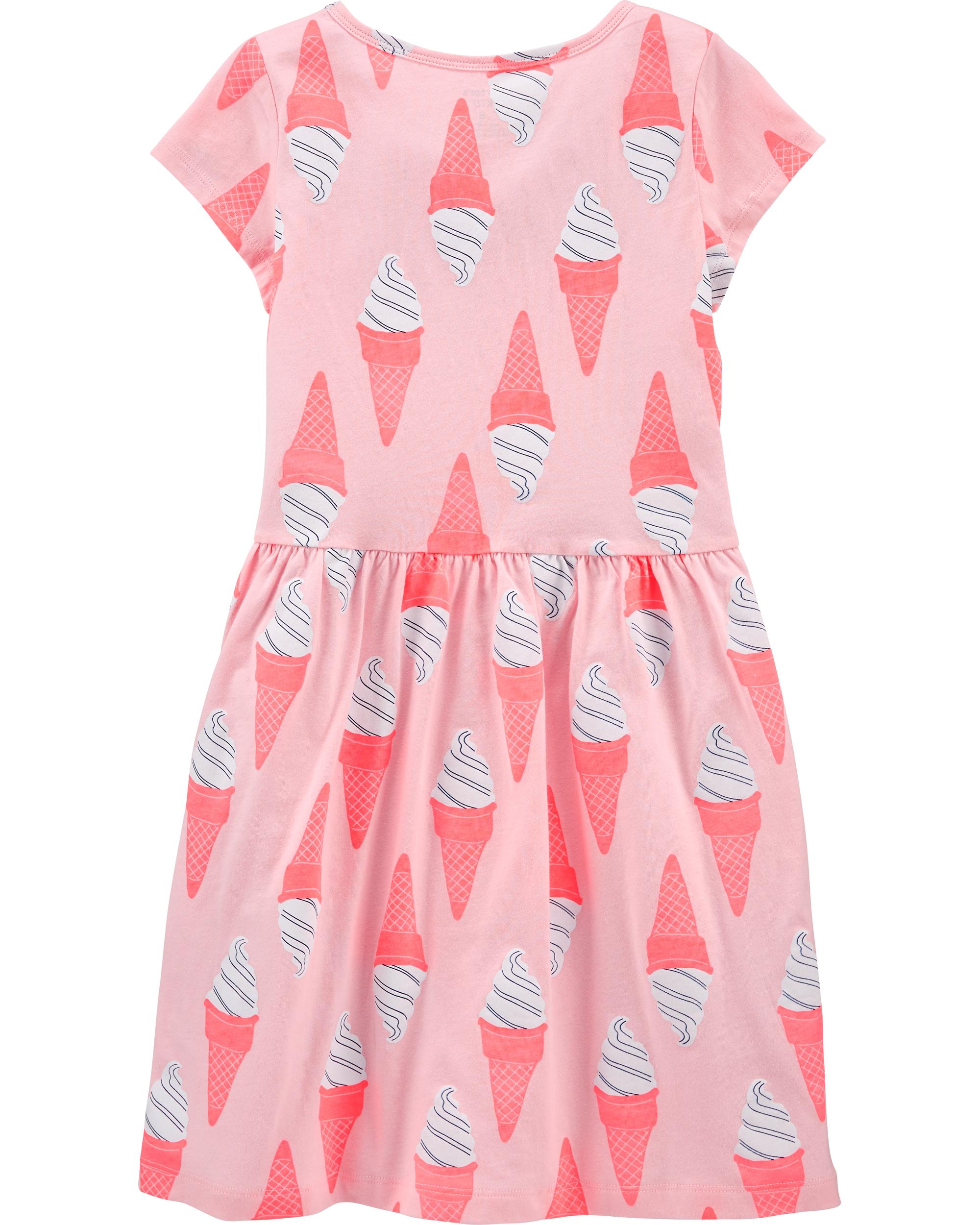 שמלת דפוס גלידות