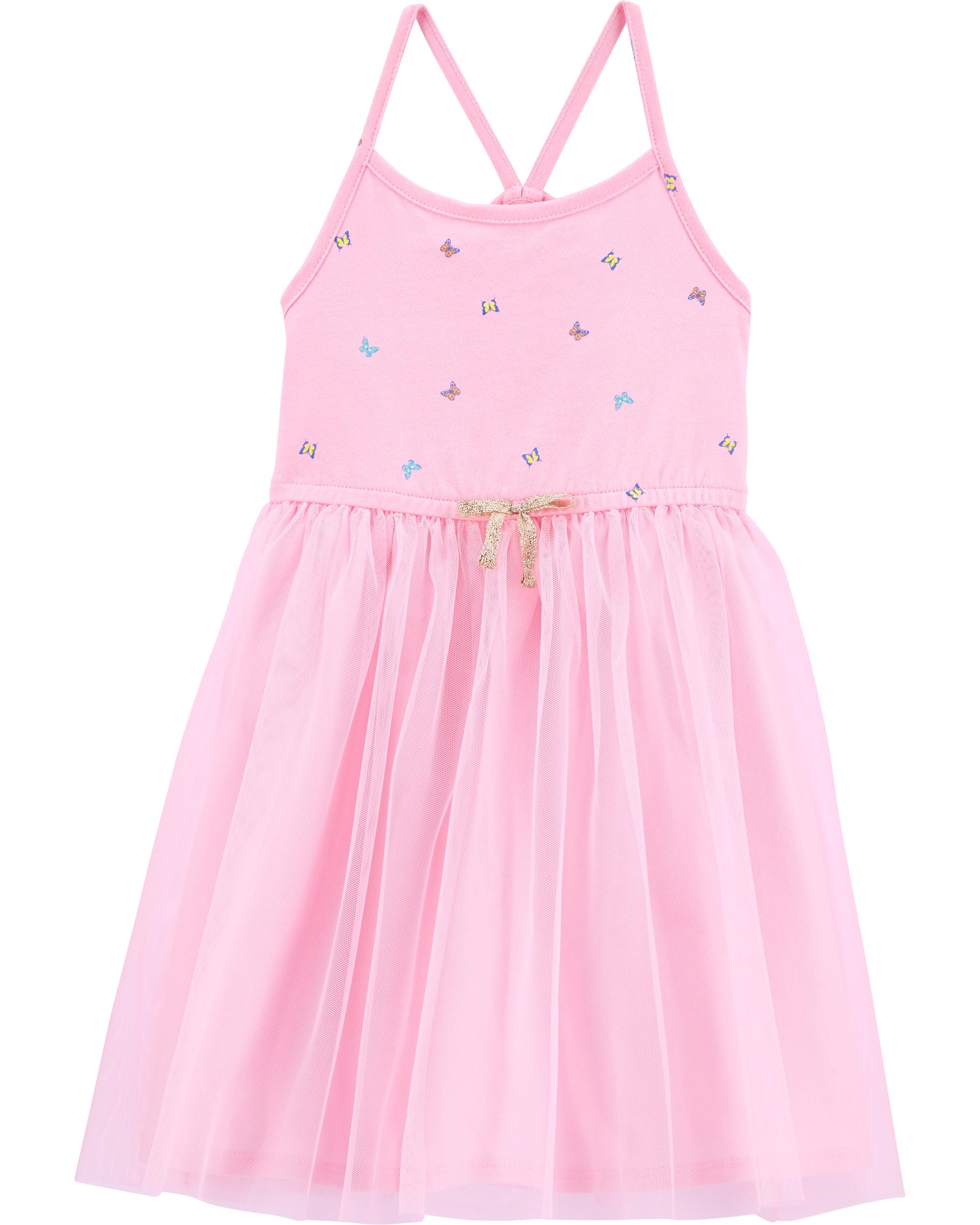 שמלת פרפרים שילוב טול