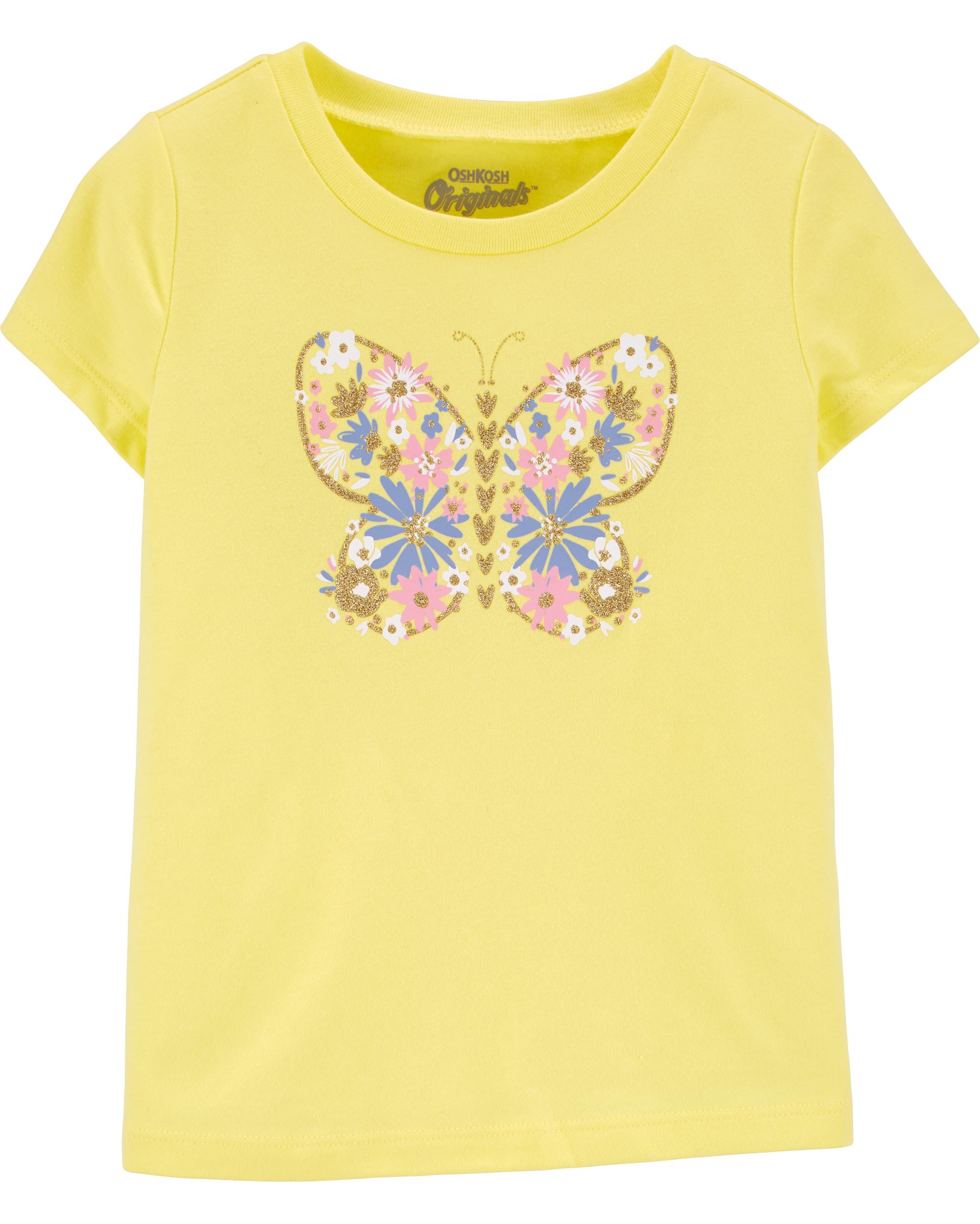 חולצת טי פרפר מפרחים