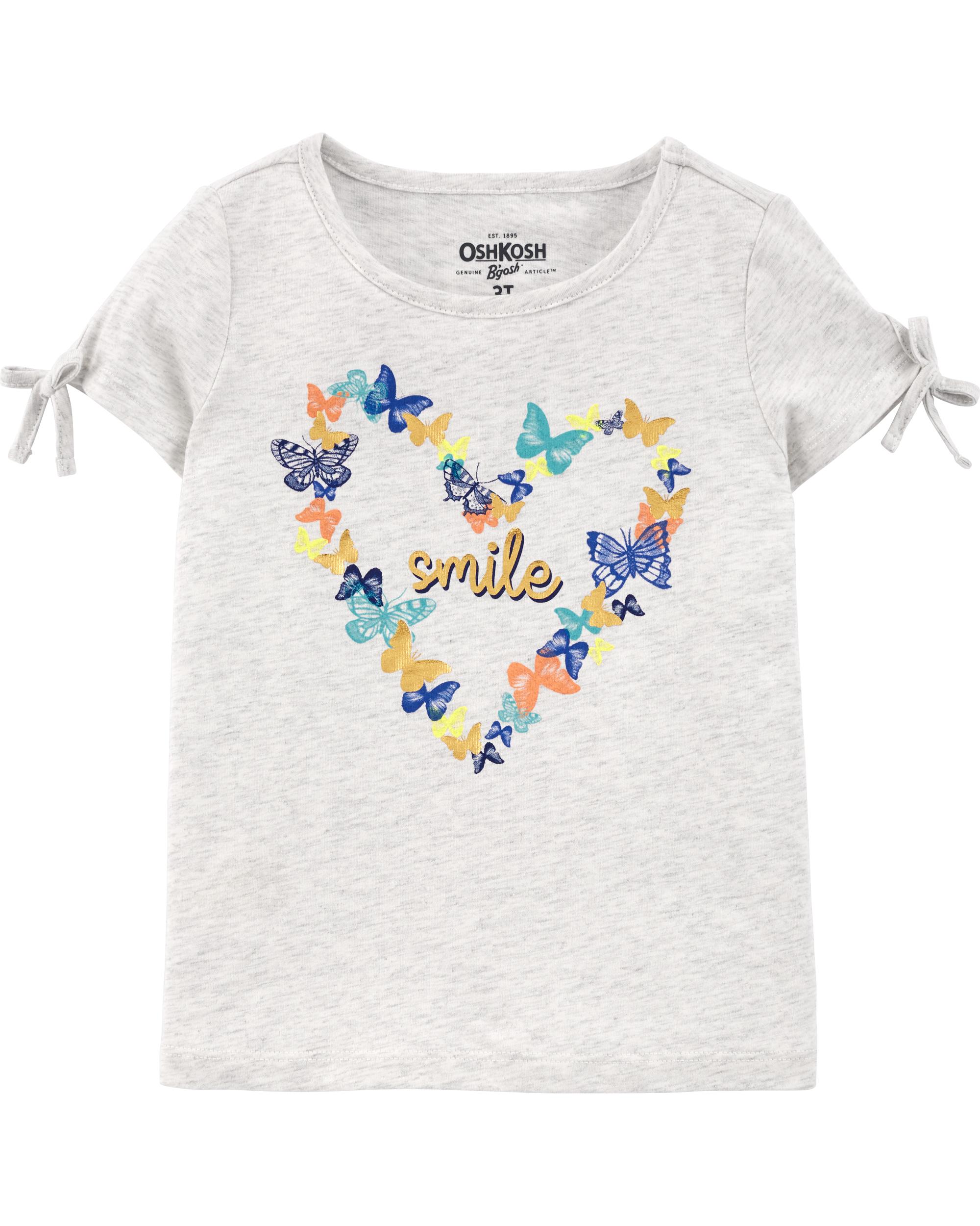 חולצת טי לב פרפרים